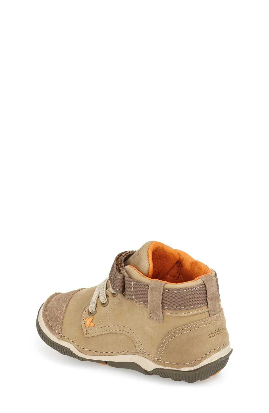 'Garrett' High Top Bootie Sneaker,                             Alternate thumbnail 2, color,                             Brown