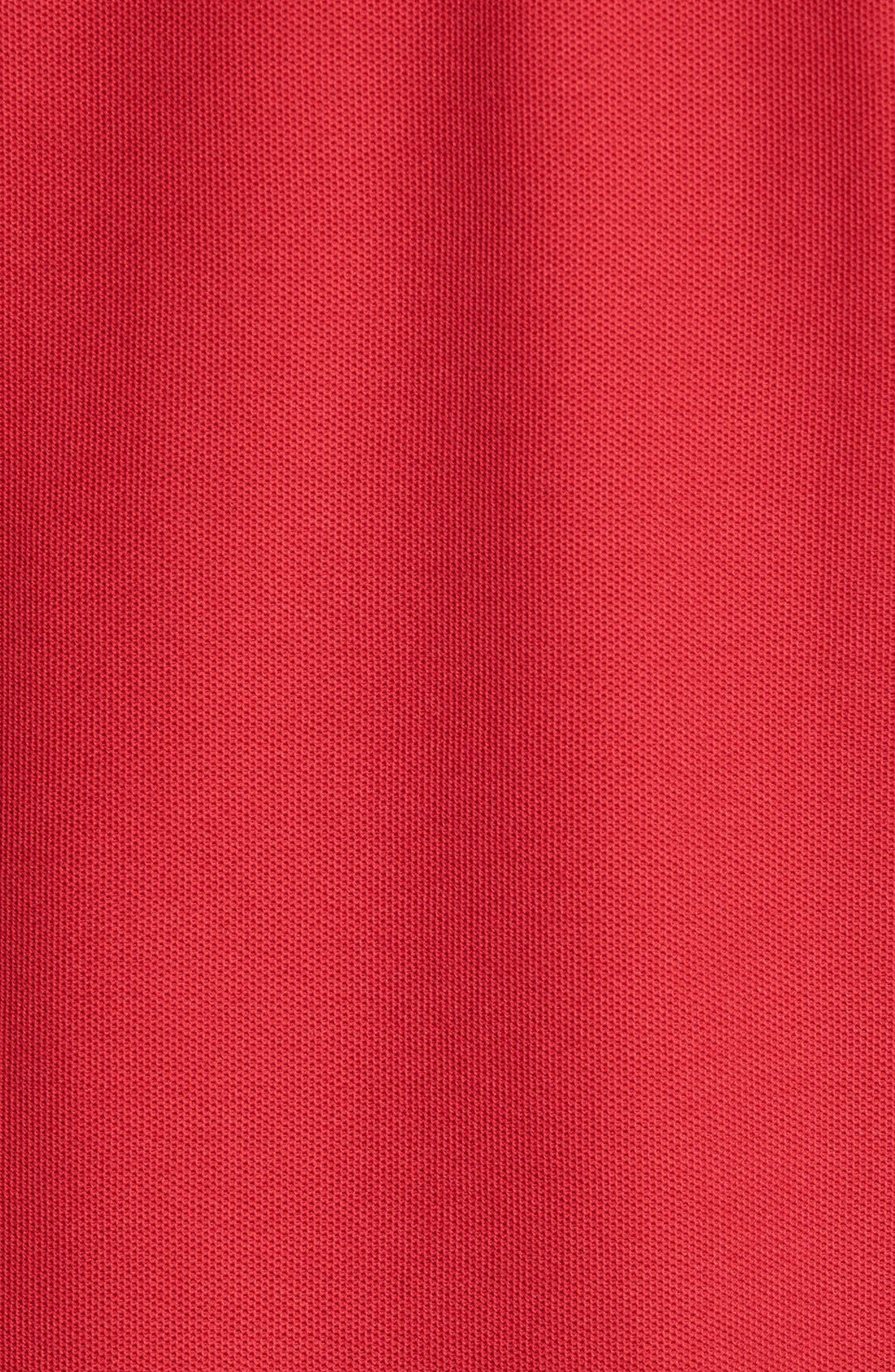 Classic Regular Fit Piqué Polo,                             Alternate thumbnail 4, color,                             Red Rio