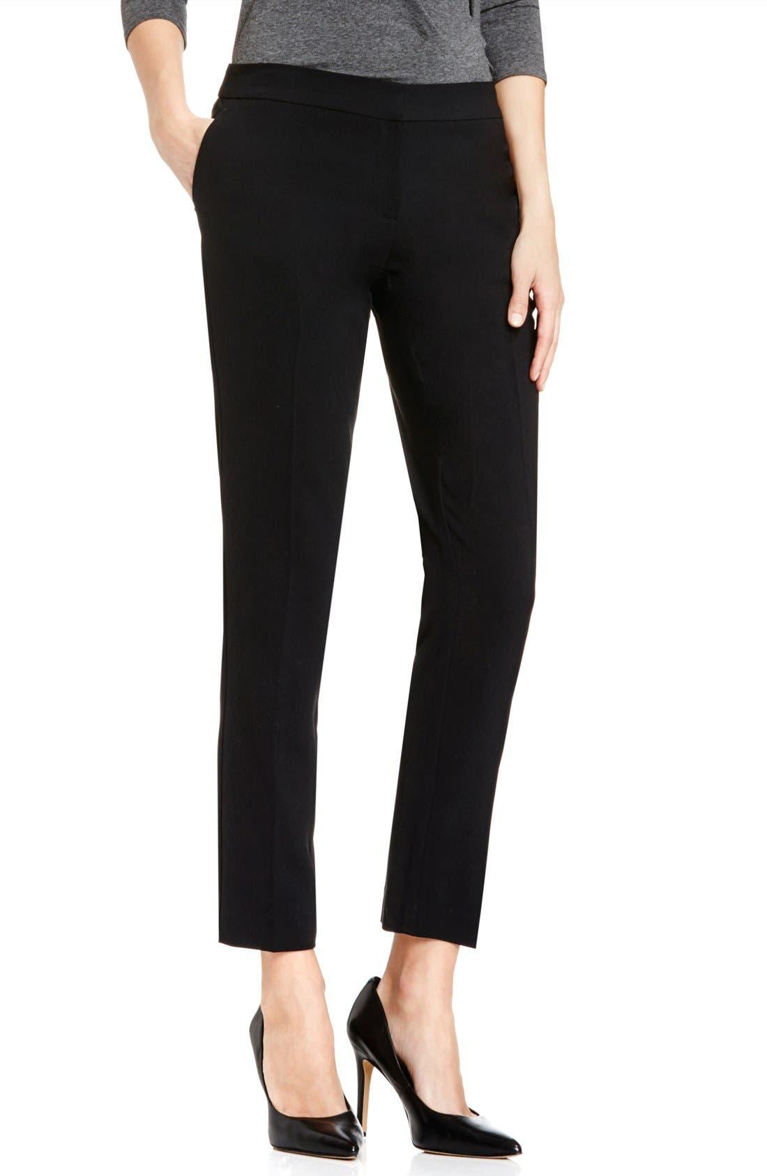 Womens Black Ankle Pants DMzUzX5C