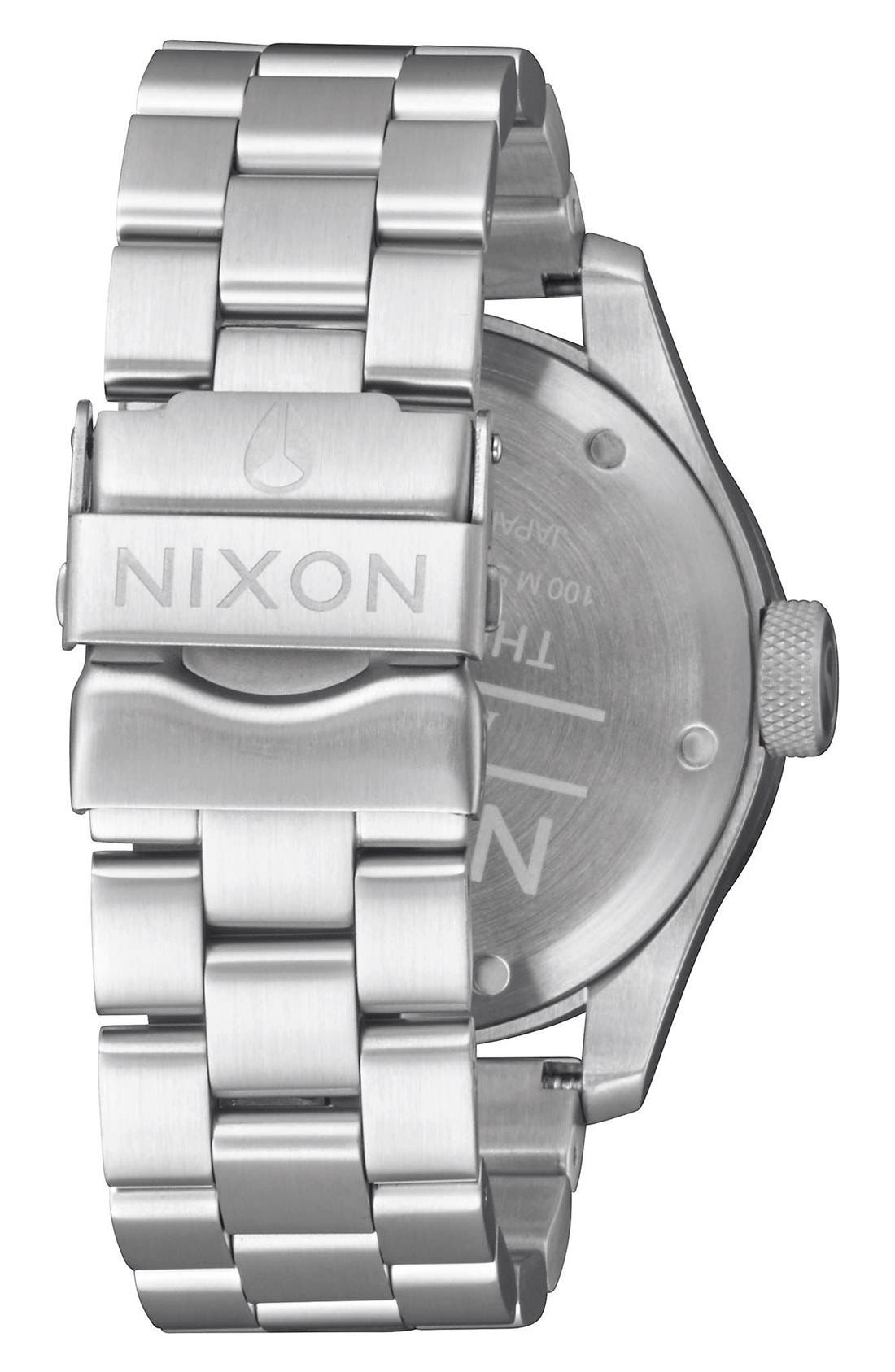 'Safari' Bracelet Watch, 43mm,                             Alternate thumbnail 2, color,                             Silver/ Gunmetal
