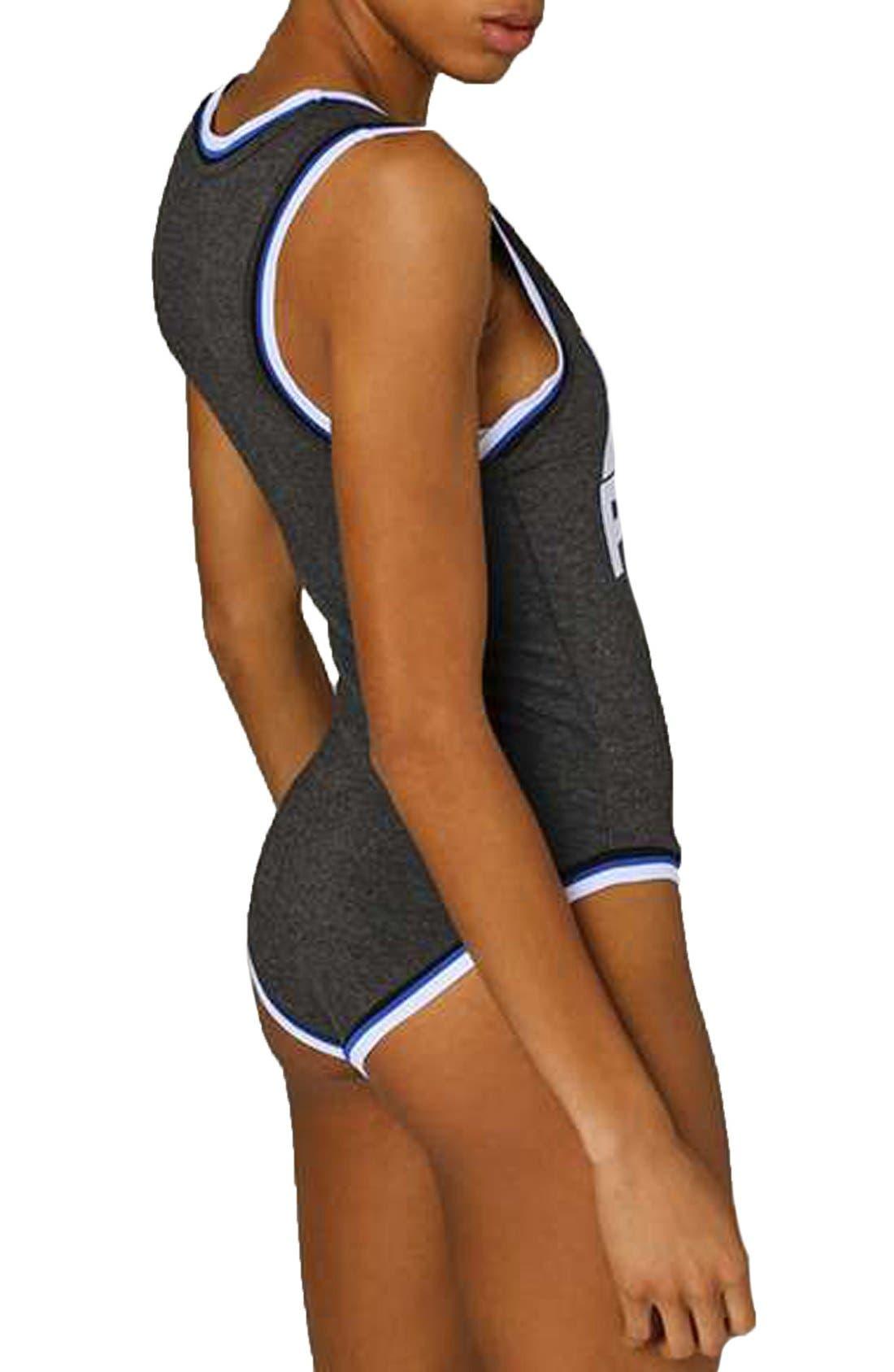 Alternate Image 3  - IVY PARK® Stripe Trim Logo Bodysuit