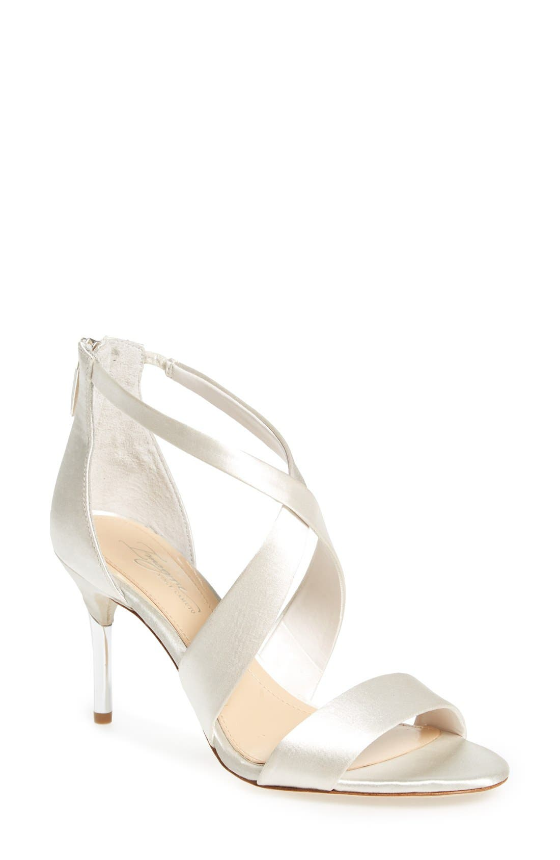 'Pascal' Sandal,                             Main thumbnail 1, color,                             Ivory Satin