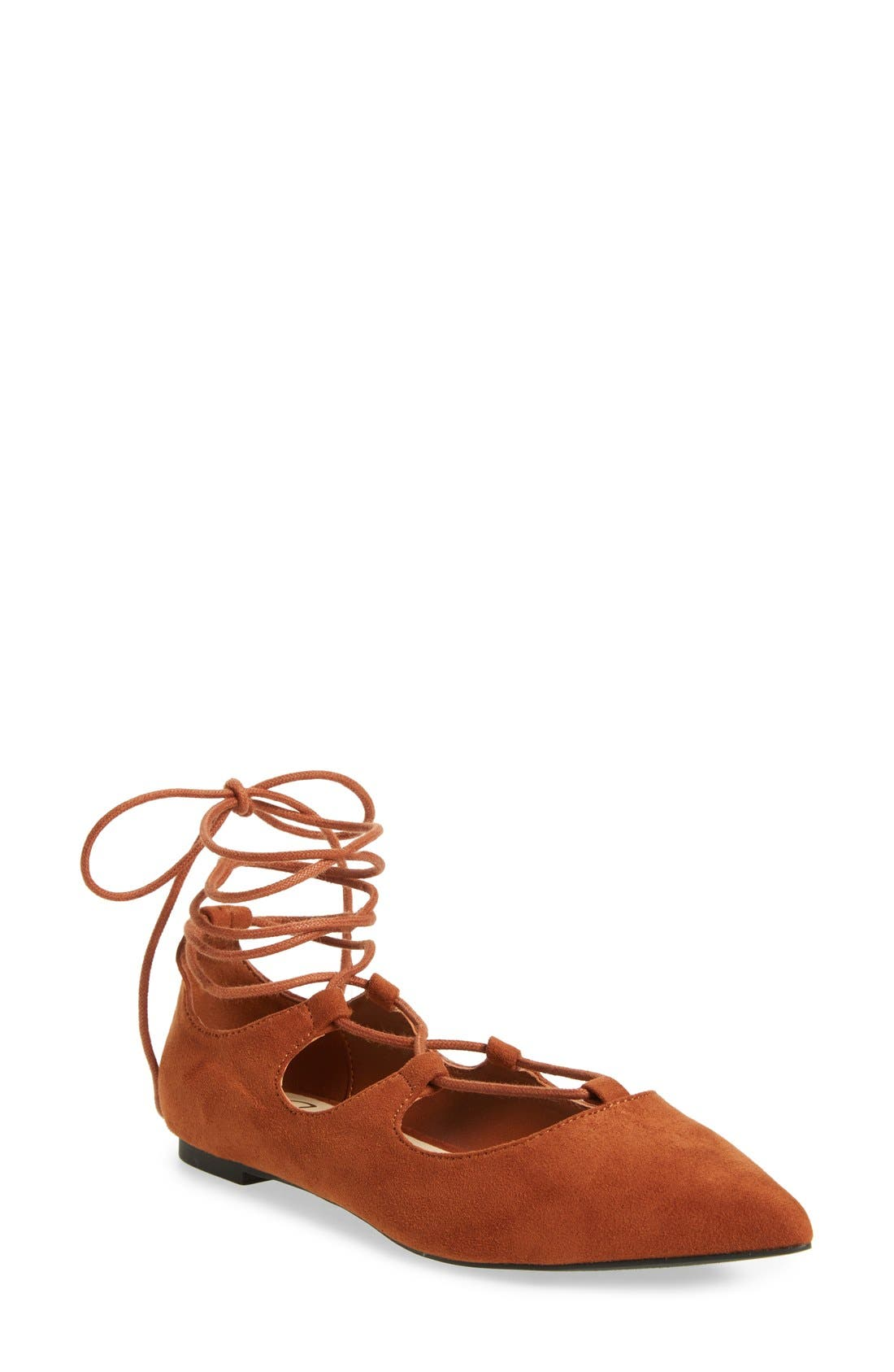 Main Image - Callisto 'Rian' Ghillie Lace Pointy Toe Flat (Women)