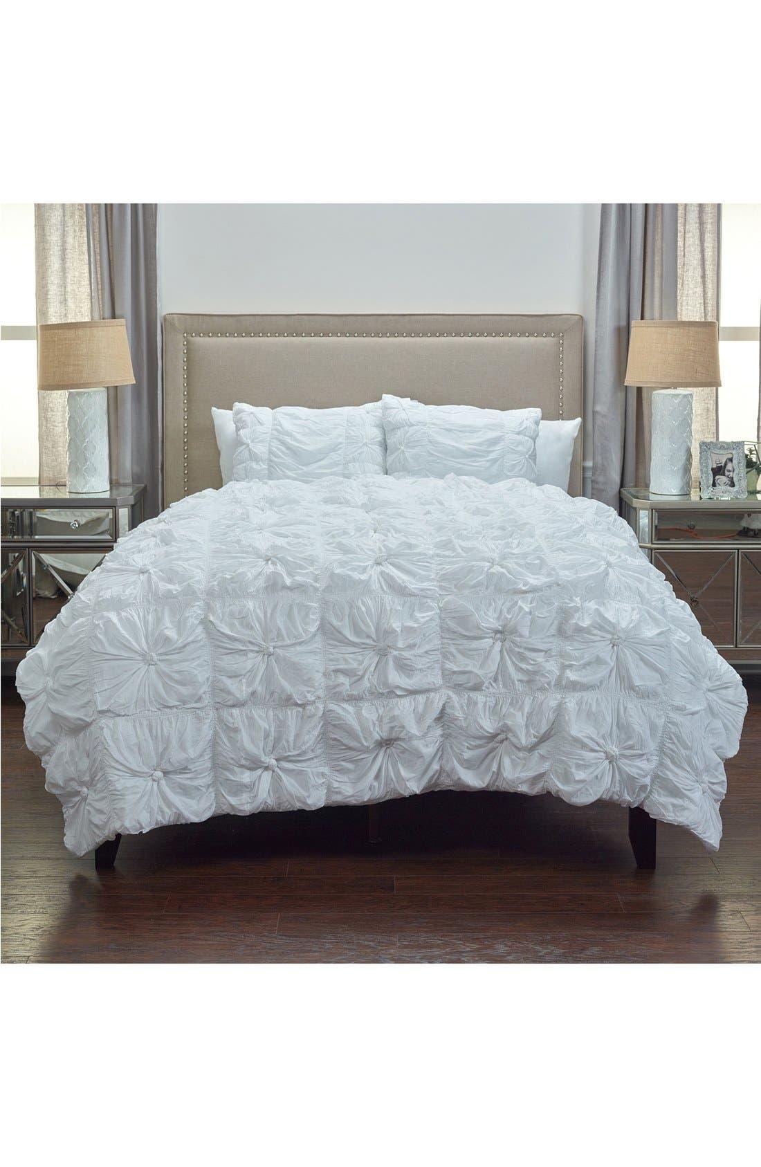 Knots Comforter & Sham Set,                         Main,                         color, White