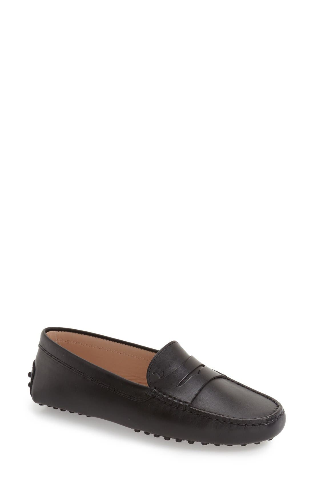 Tods Womens Mens Shoes Nordstrom D Island Slip On British Comfort Leather Dark Brown