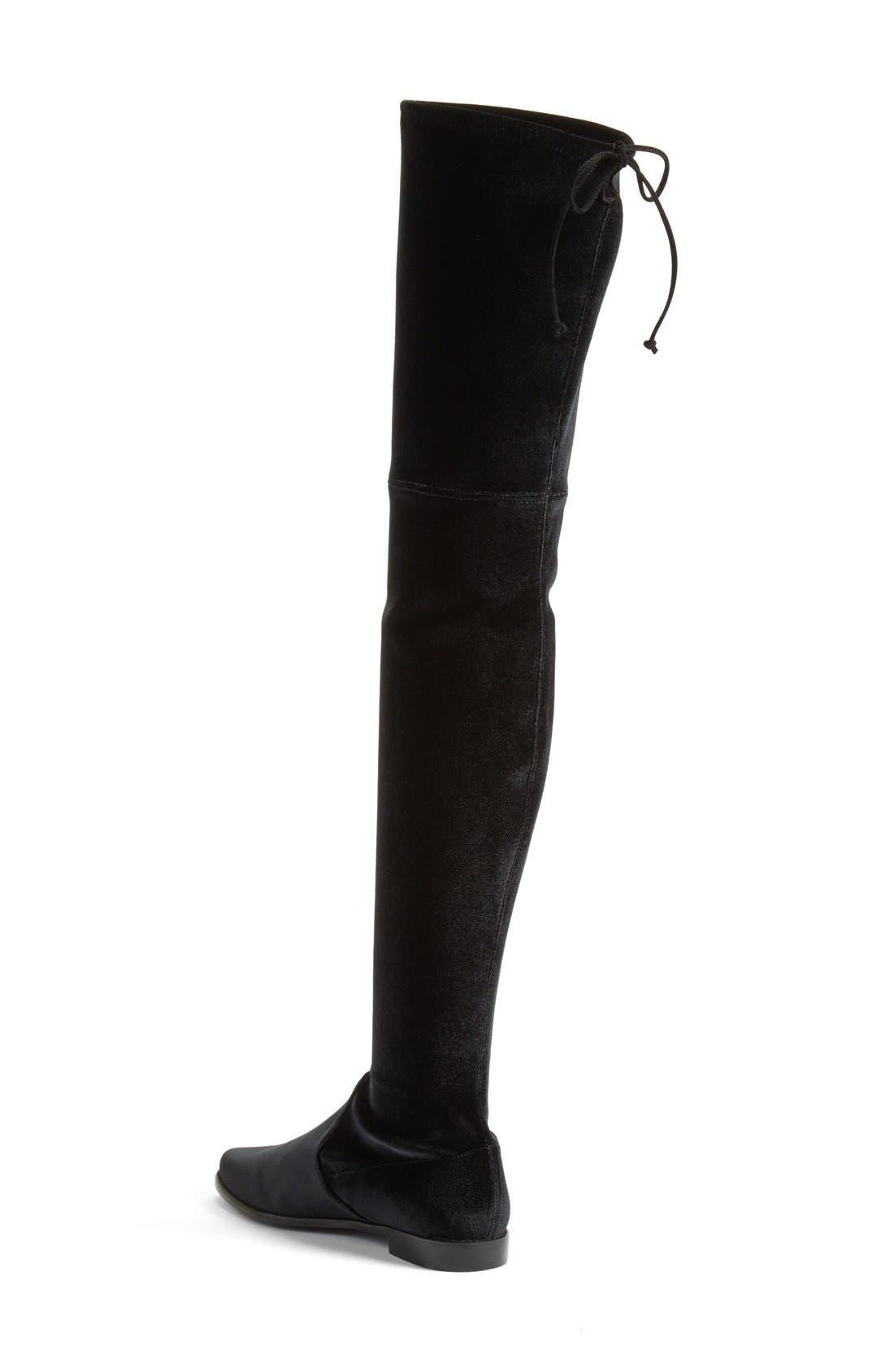 'Leggylady' Over the Knee Boot,                             Alternate thumbnail 2, color,                             Nero Stretch Velvet