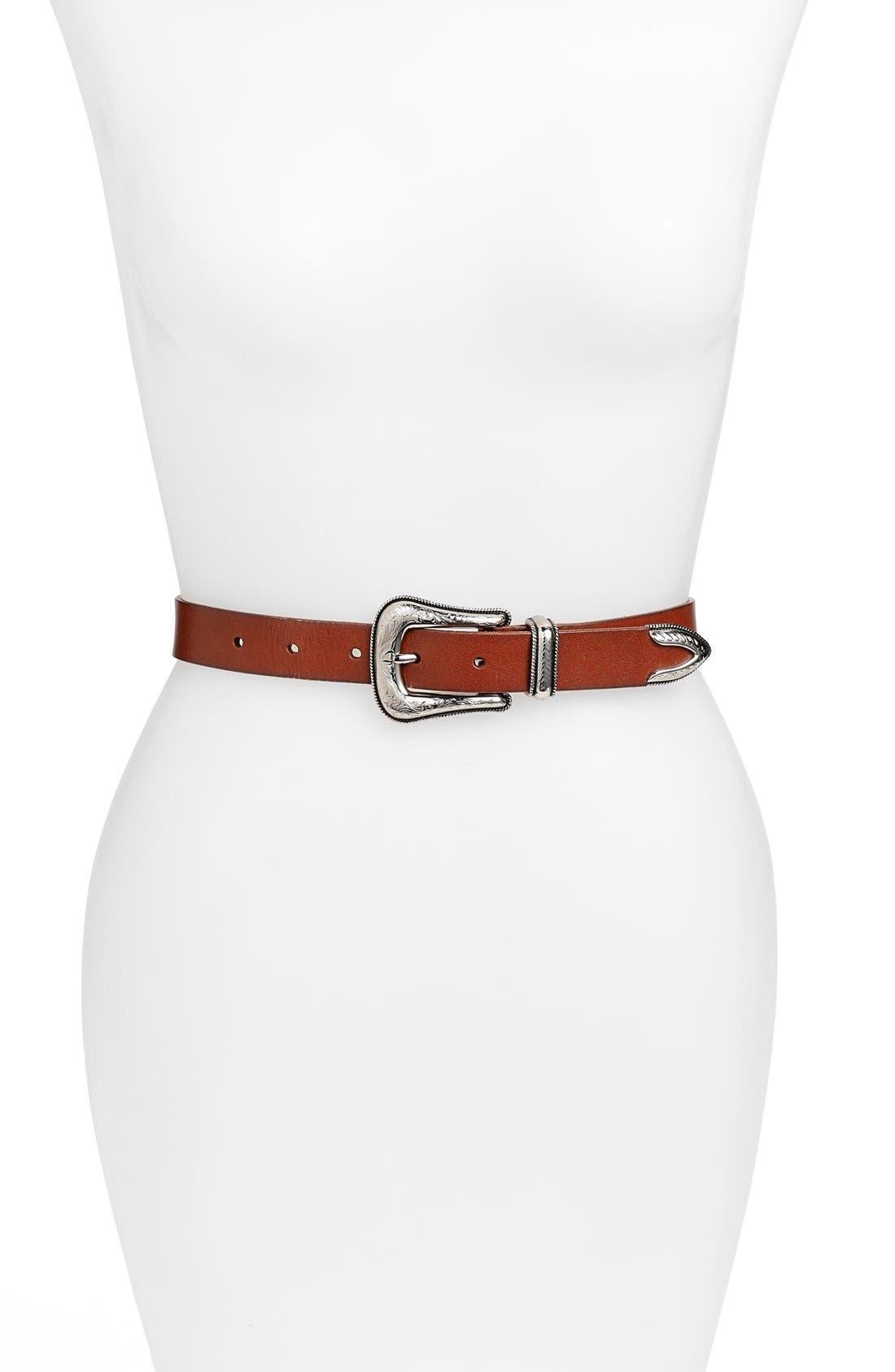 Rebecca Minkoff Calfskin Leather Belt