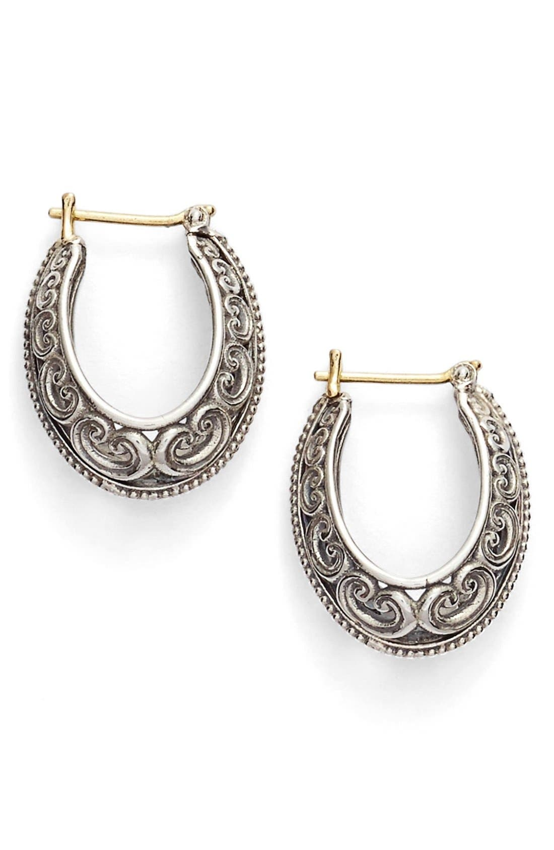 Konstantino 'Penelope' Filigree Hoop Earrings