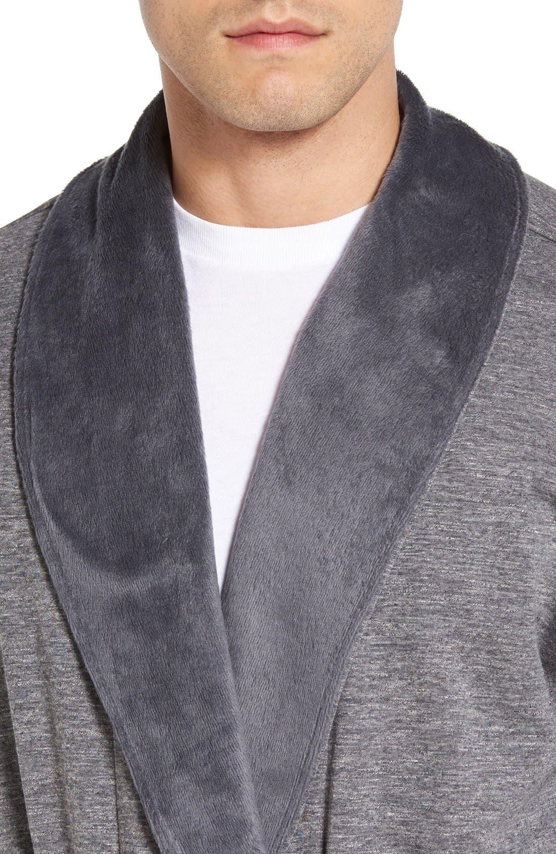 Alternate Image 4  - UGG® 'Robinson' Stretch Cotton Robe