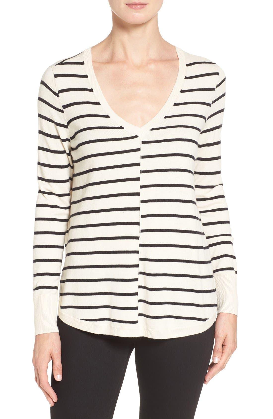 Alternate Image 1 Selected - Caslon® High-Low V-neck Sweater