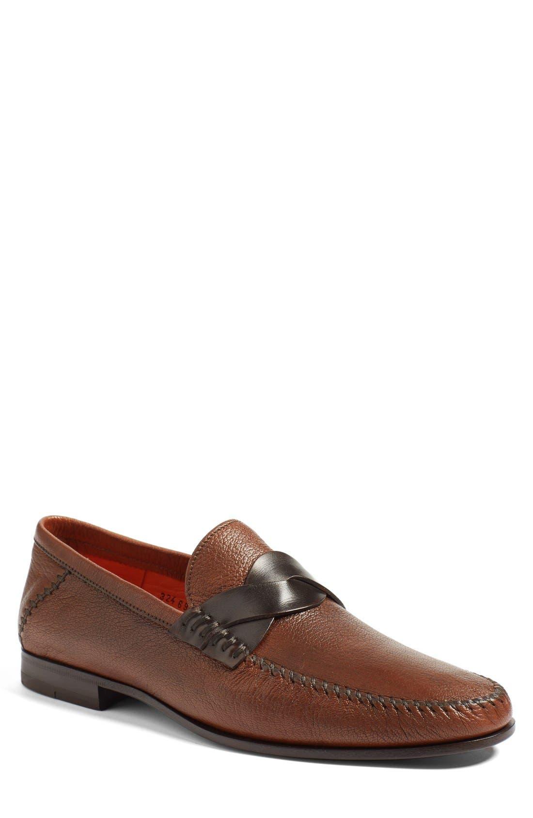 santoni Intervowen style loafers anSnDY