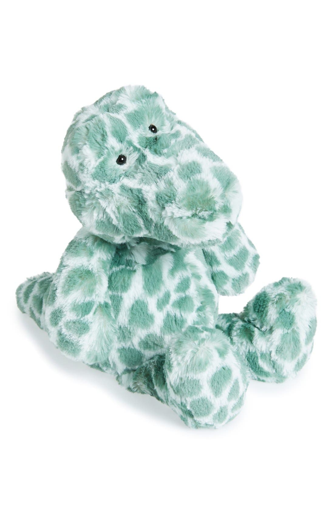 'Dapple Croc' Stuffed Animal,                             Main thumbnail 1, color,                             Teal