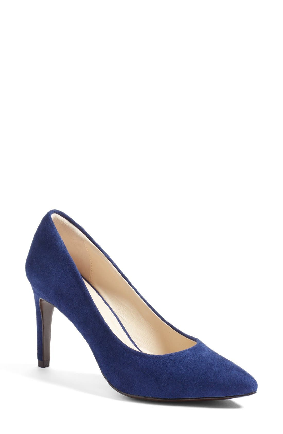 'Eliza - Grand.OS' Pointy Toe Pump,                             Main thumbnail 1, color,                             Rainstorm Blue Suede