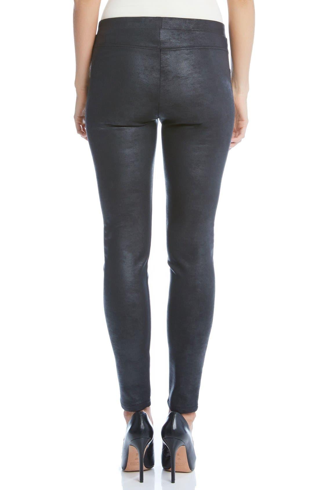 Alternate Image 2  - Karen Kane Stretch Faux Leather Skinny Pants