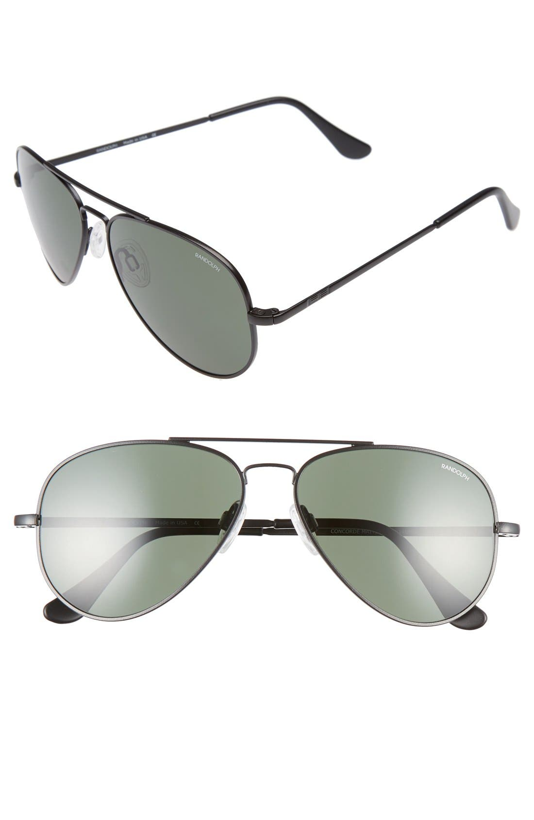 Main Image - Randolph Engineering 'Concorde' 57mm Aviator Sunglasses