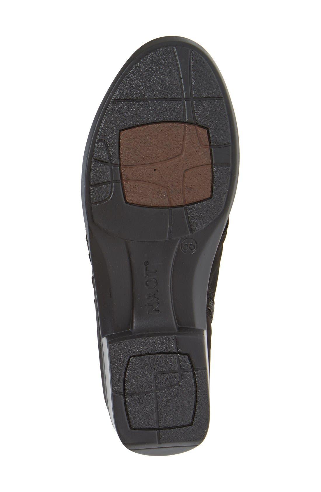 'Calima' Bootie,                             Alternate thumbnail 4, color,                             Black Crackle Leather