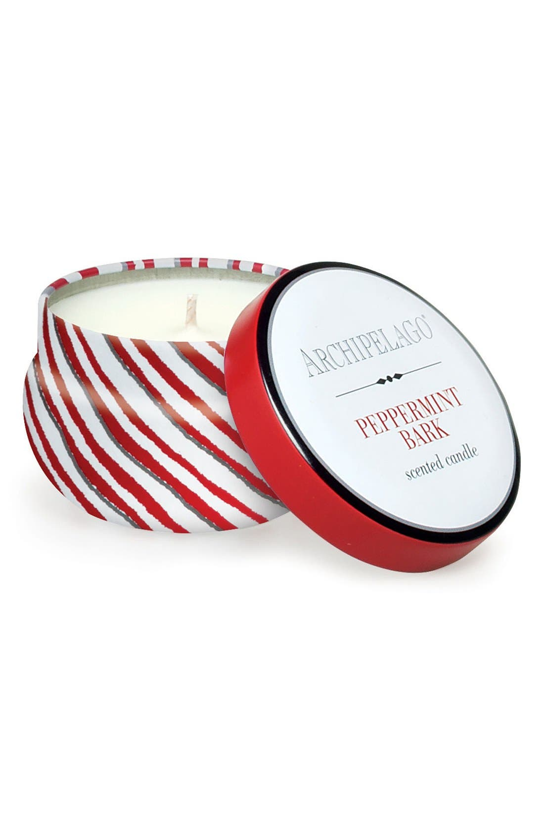 Peppermint Bark Scented Candle,                         Main,                         color, Peppermint Bark