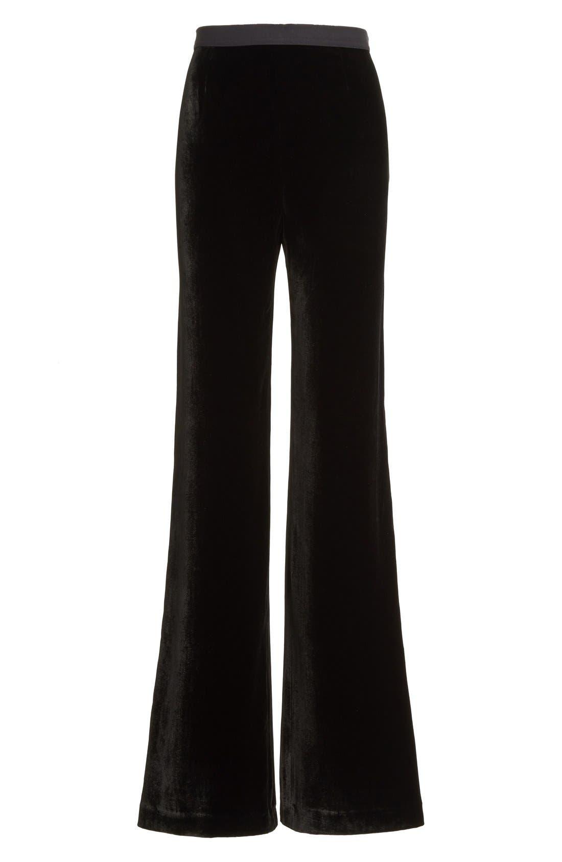 Alternate Image 1 Selected - Alexander Wang Wide Leg Velvet Pants