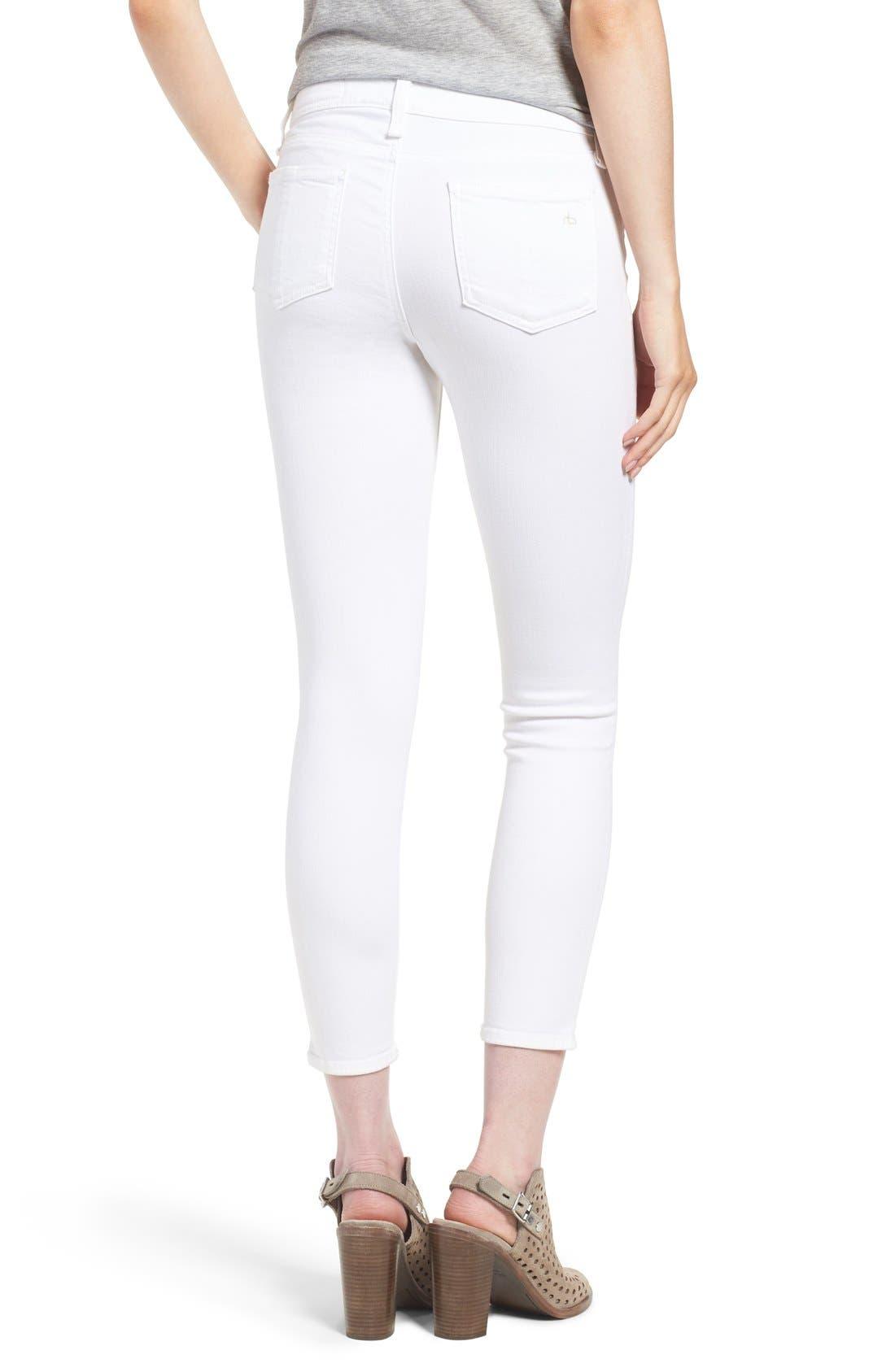 Alternate Image 2  - rag & bone/JEAN 'Capri' Skinny Crop Jeans (Bright White)
