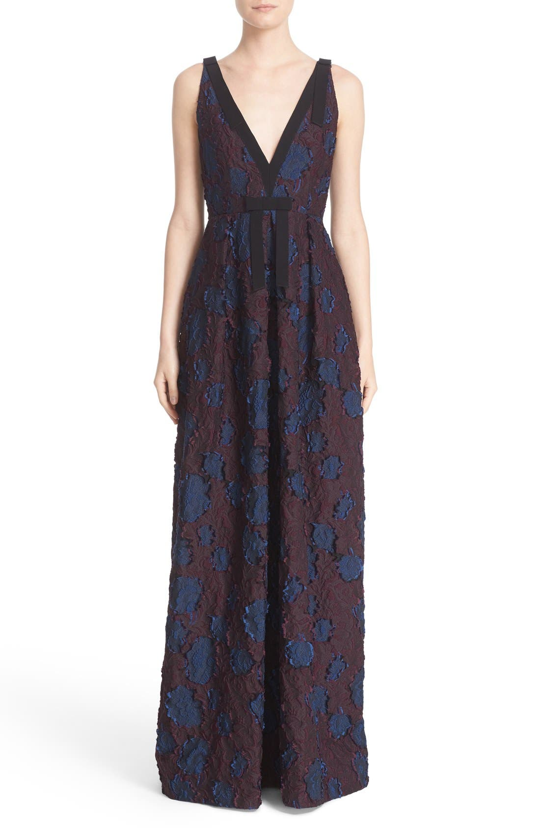 Alternate Image 1 Selected - Erdem 'Ceren' Bow Detail Fil Coupé Gown