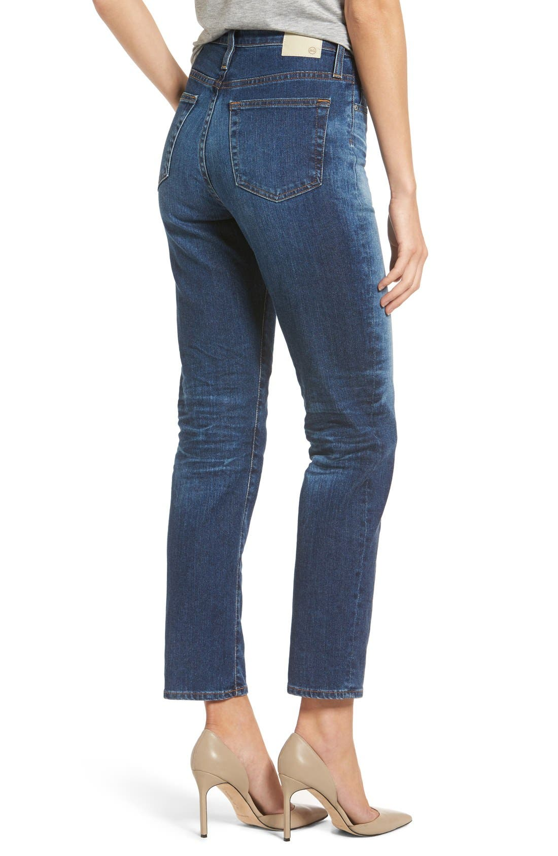 'The Phoebe' Vintage High Rise Straight Leg Jeans,                             Alternate thumbnail 2, color,                             10Y Wick