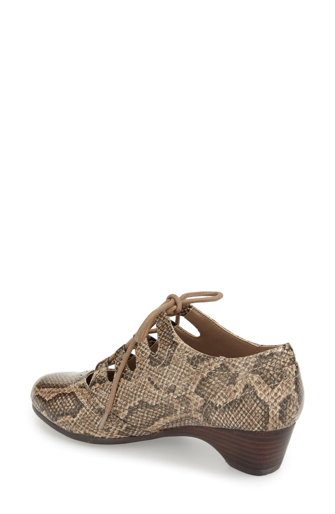 Alternate Image 2  - Bella Vita Posie Ghillie Oxford (Women)