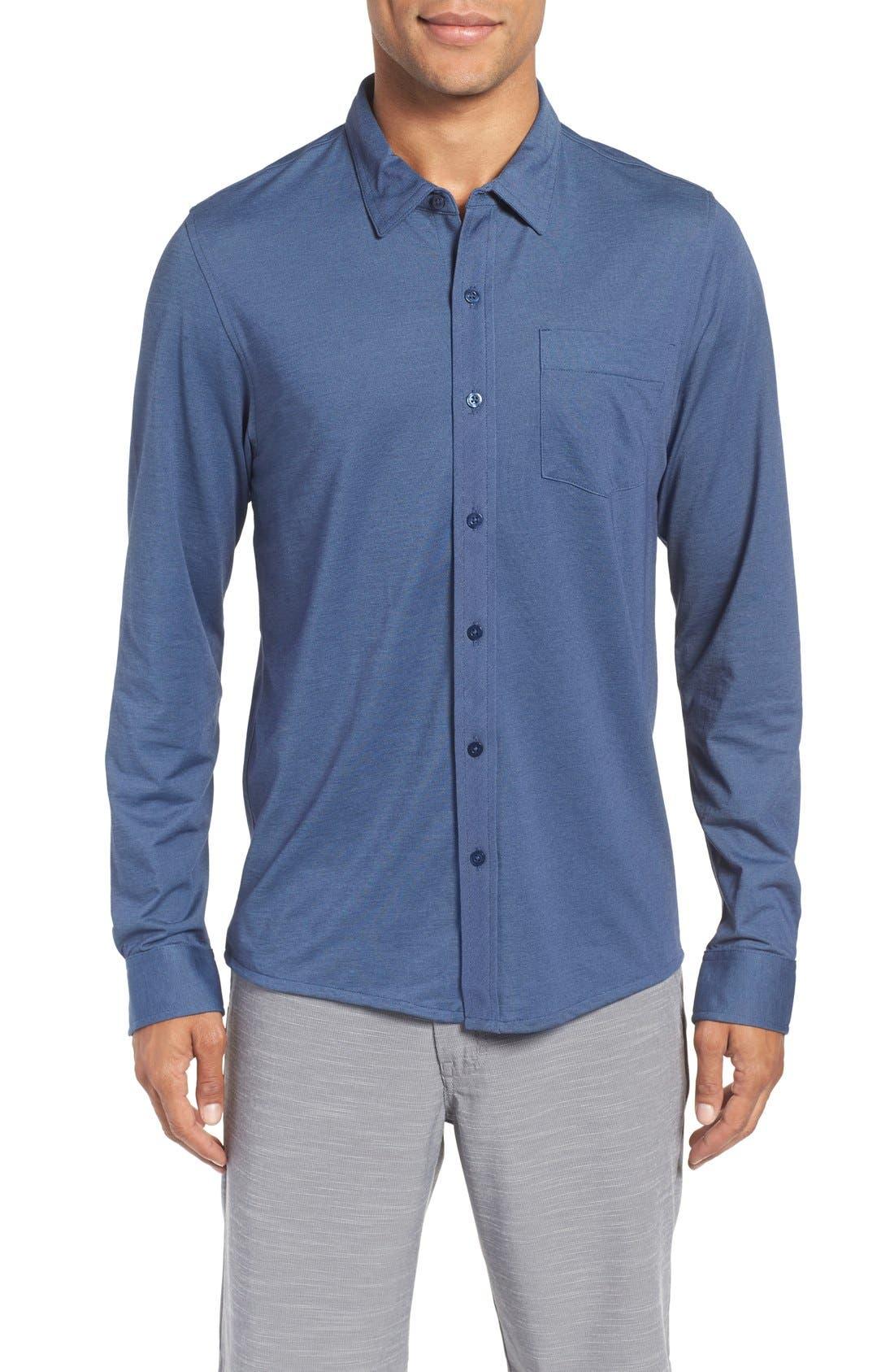 Trip'Slim Fit Wrinkle Free Sport Shirt,                         Main,                         color, Iris