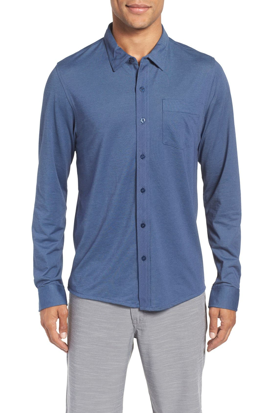 Trip'Slim Fit Wrinkle Free Sport Shirt,                         Main,                         color, Iris