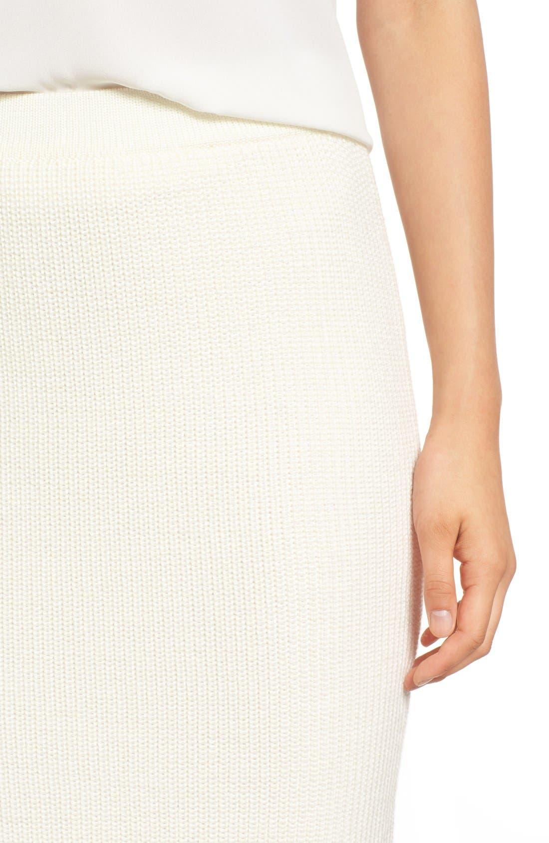 Alternate Image 4  - Paper Crown by Lauren Conrad 'Copenhagen' Knit Tube Skirt