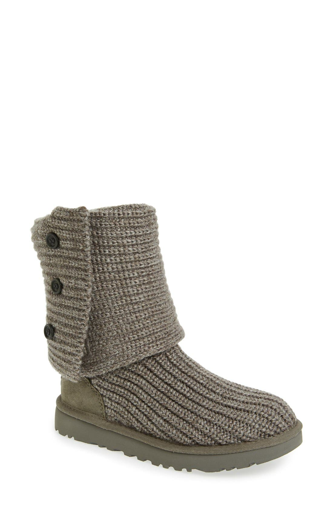 Classic Cardy II Knit Boot,                         Main,                         color, Grey Fabric