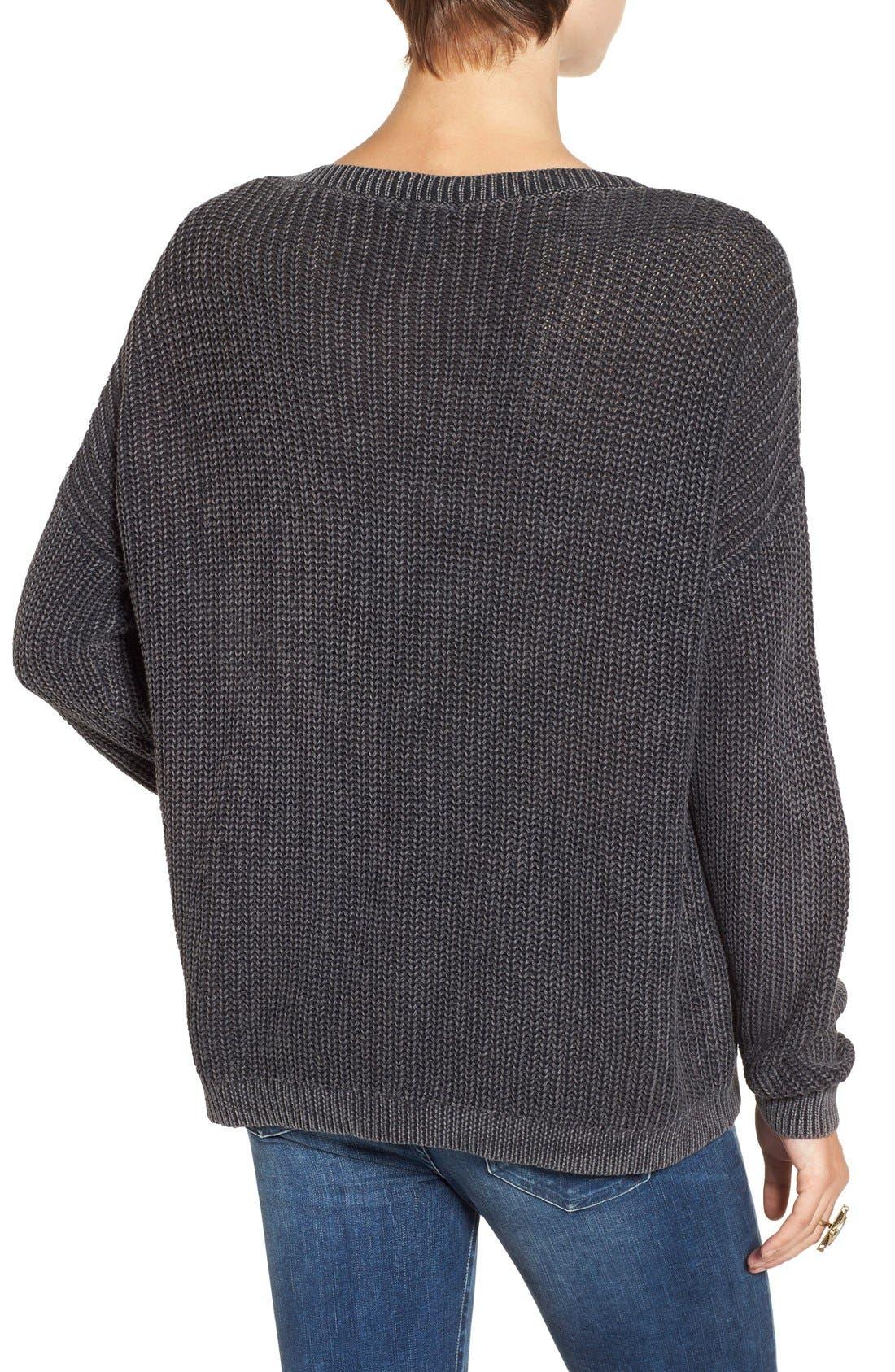 Alternate Image 2  - BP. V-Neck Cable Knit Pullover