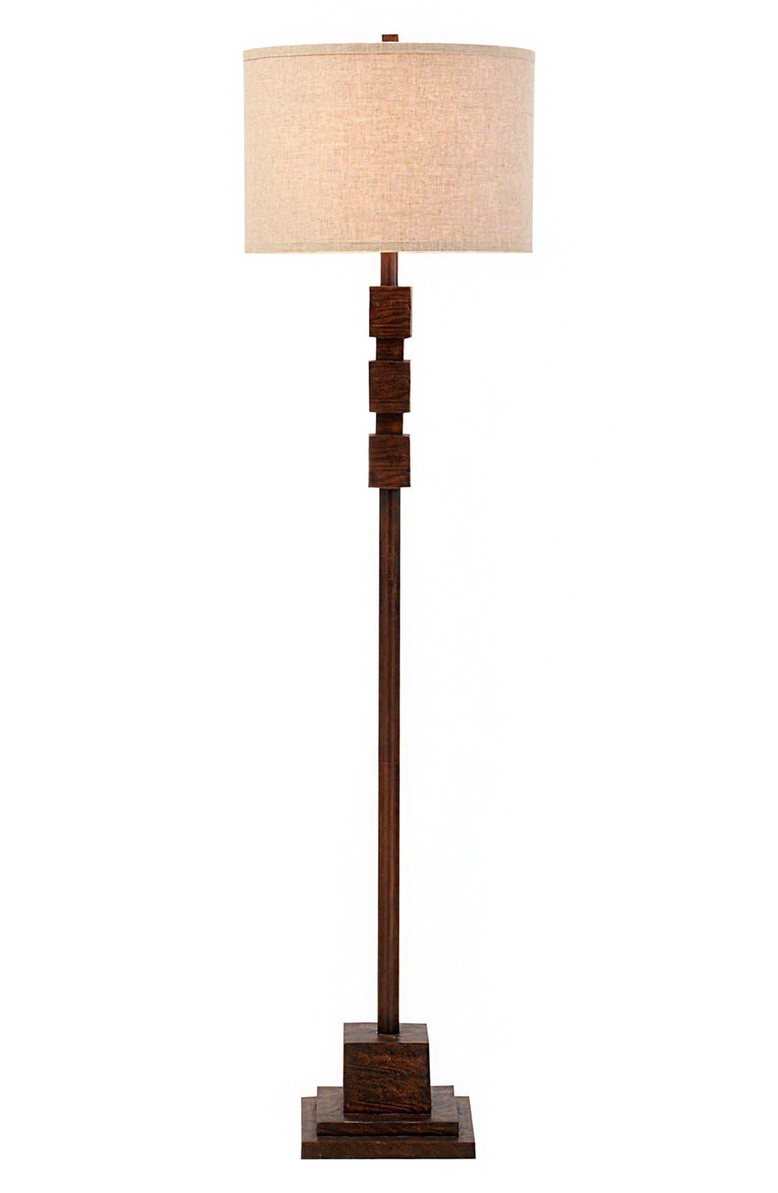 JAlexander Faux Wood Floor Lamp,                             Main thumbnail 1, color,                             Brown