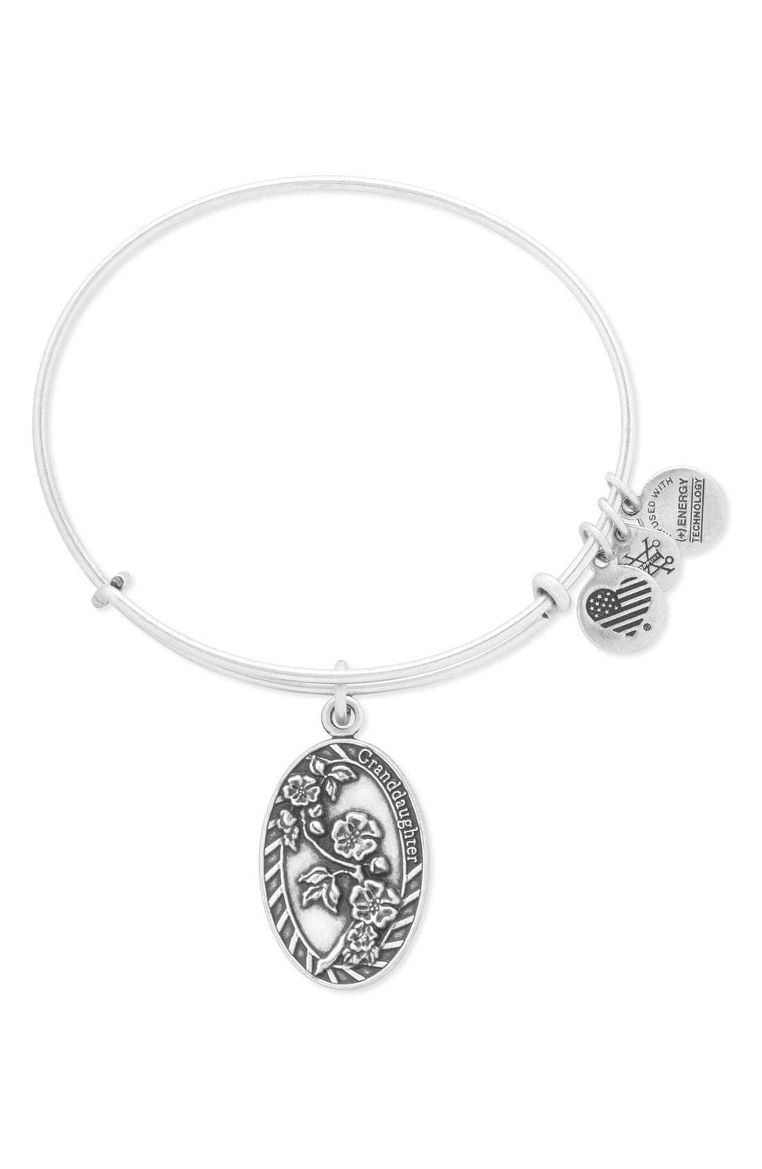 Alternate Image 1 Selected - Alex and Ani 'Granddaughter' Adjustable Wire Bangle