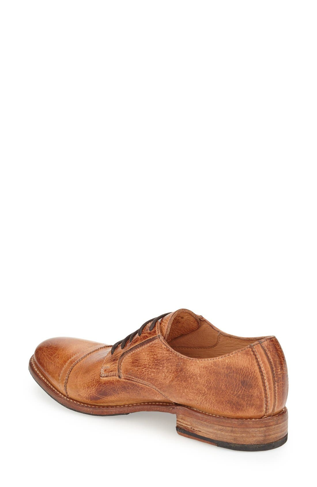 'Diorite' Cap Toe Derby,                             Alternate thumbnail 2, color,                             Cognac Leather