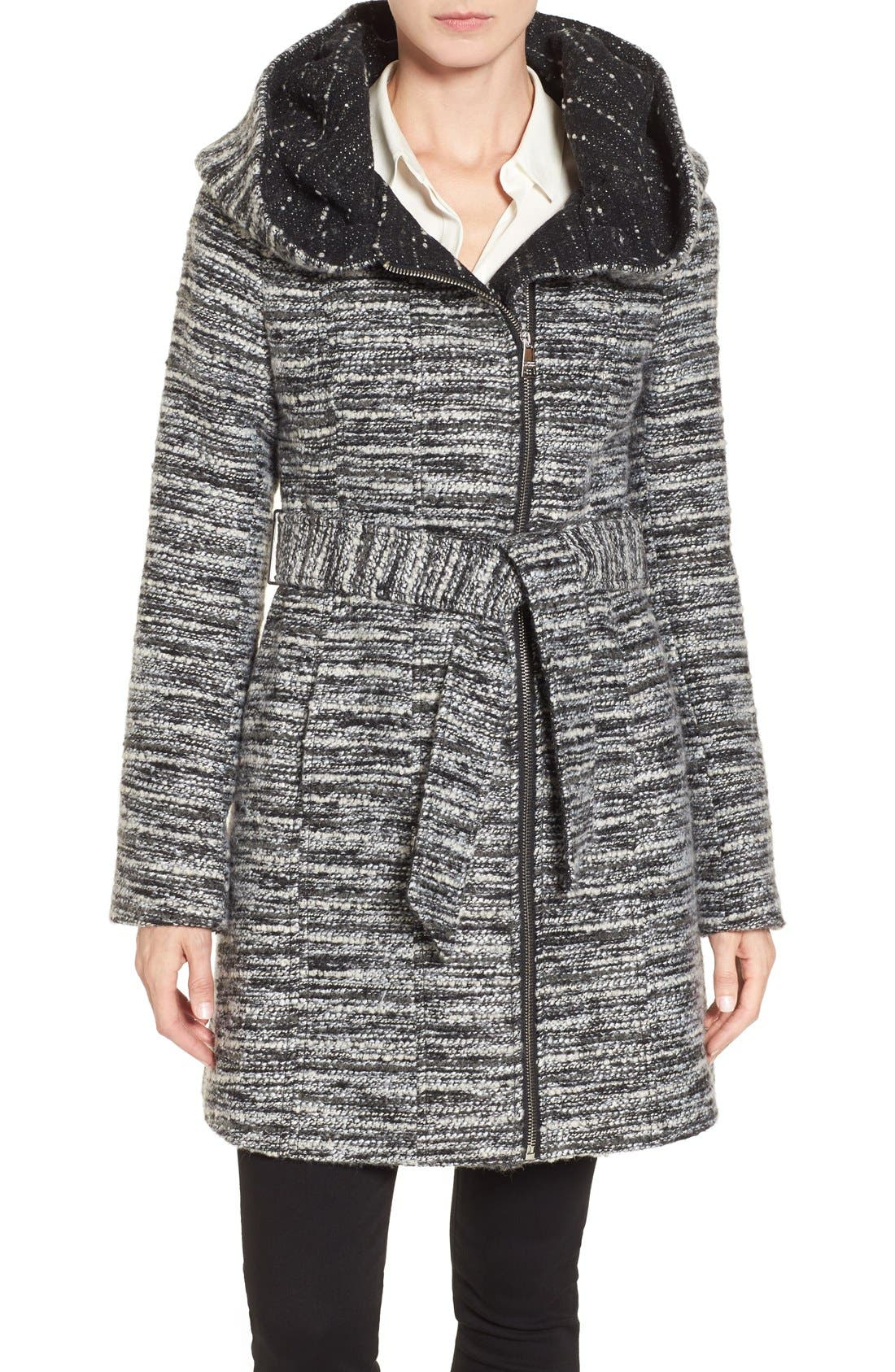 Catherine Catherine Malandrino Hooded Tweed Coat