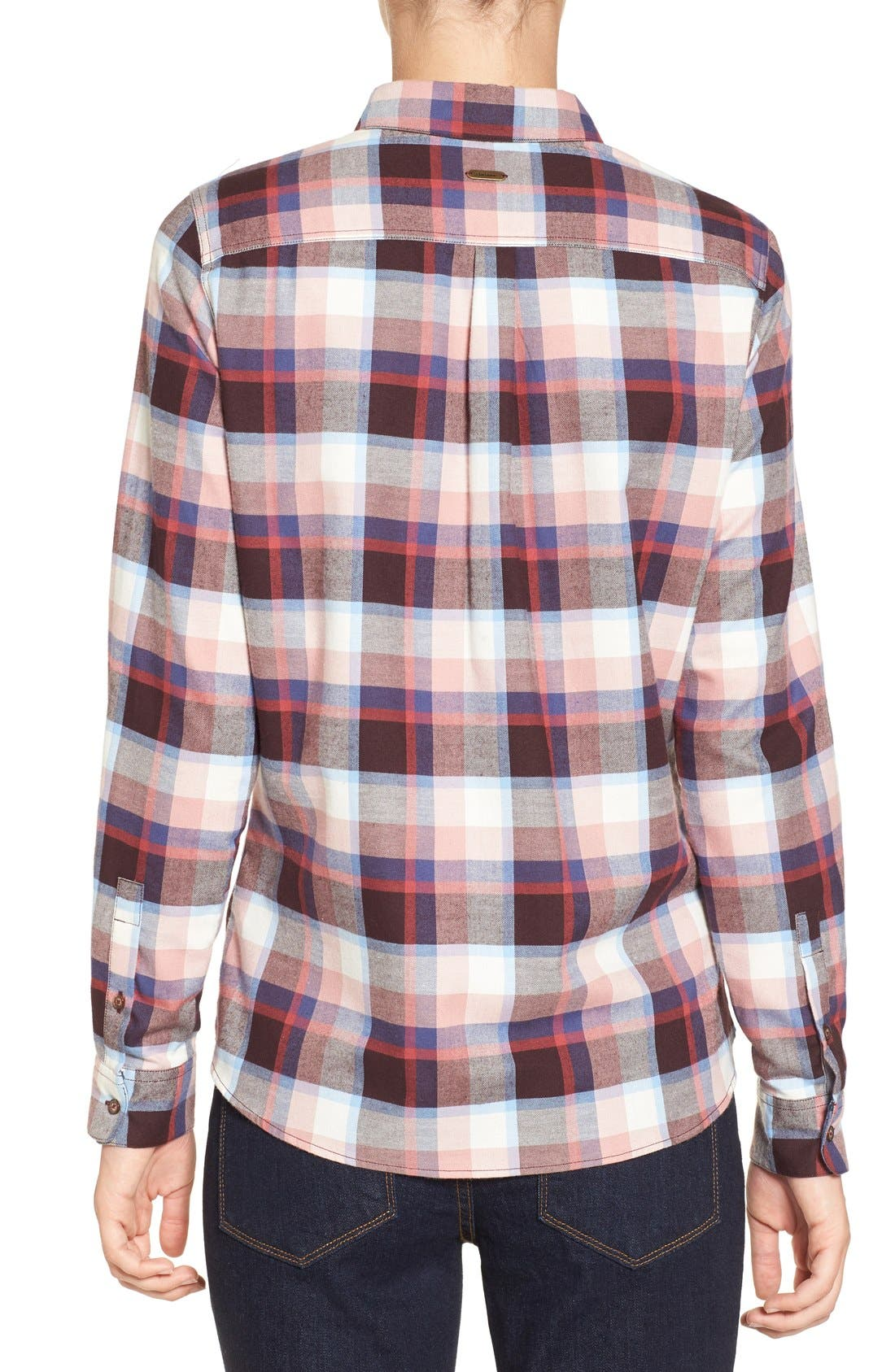 'Darwen' Plaid Shirt,                             Alternate thumbnail 2, color,                             Pink Check