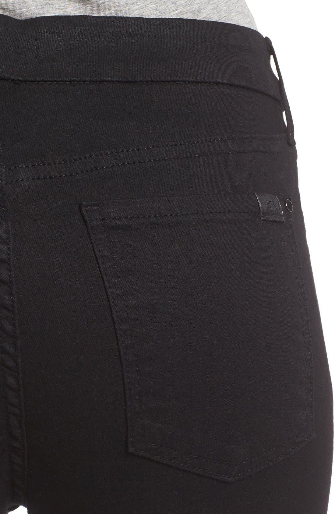 Stretch Slim Straight Leg Jeans,                             Alternate thumbnail 4, color,                             Riche Touch Black Noir