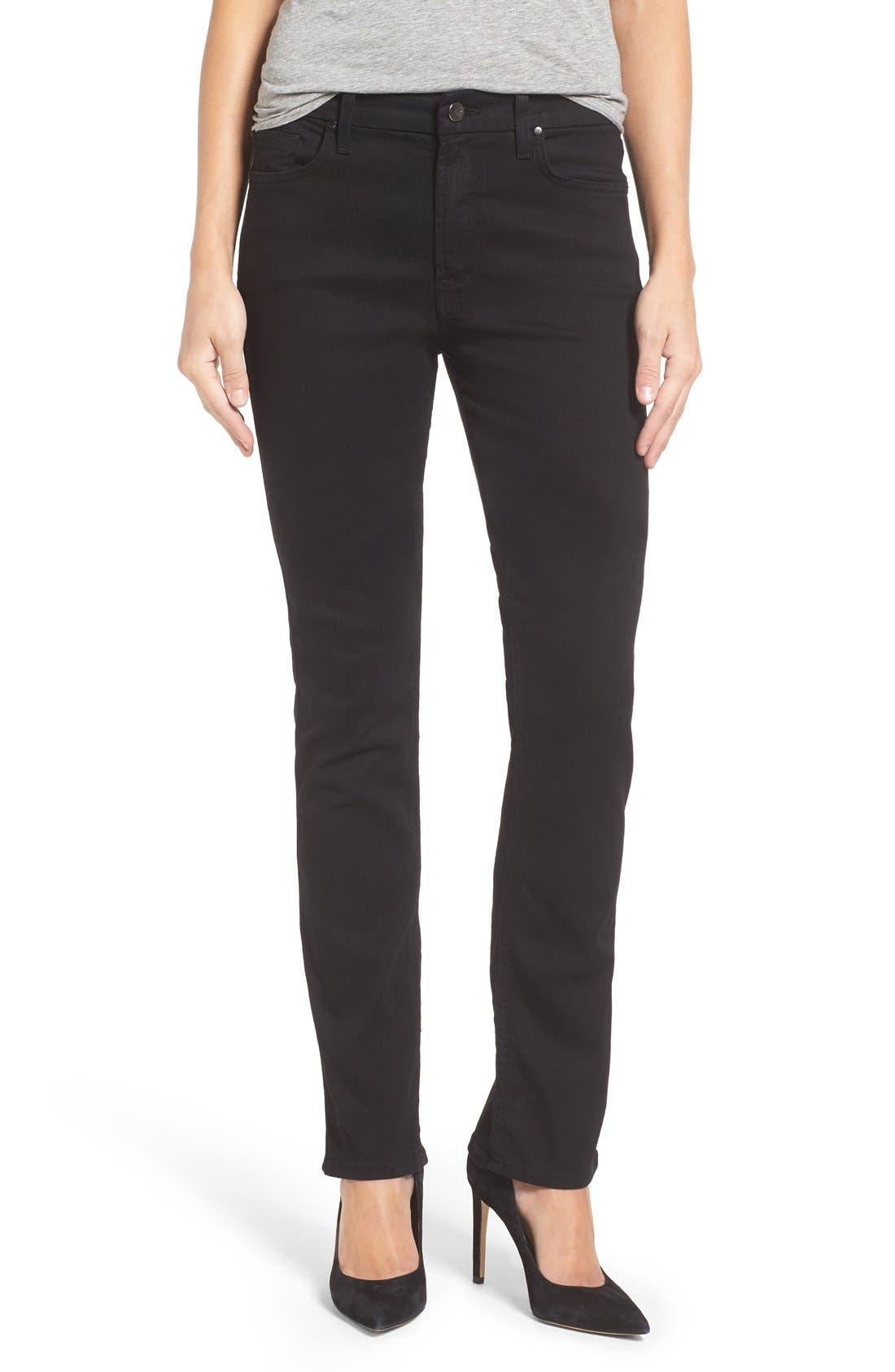 Stretch Slim Straight Leg Jeans,                         Main,                         color, Riche Touch Black Noir