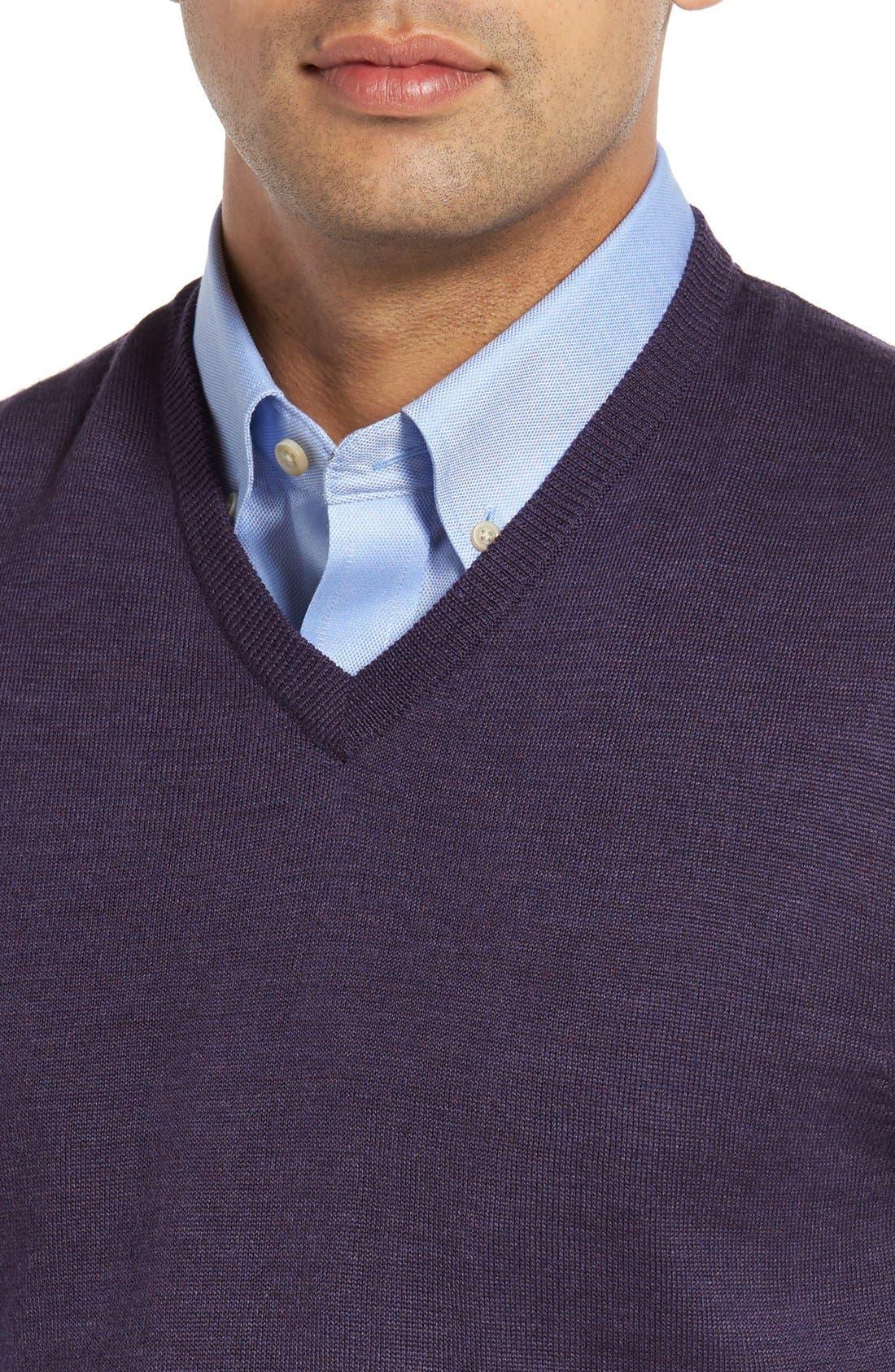 Alternate Image 4  - Cutter & Buck 'Douglas' Merino Wool Blend V-Neck Sweater Vest (Online Only)