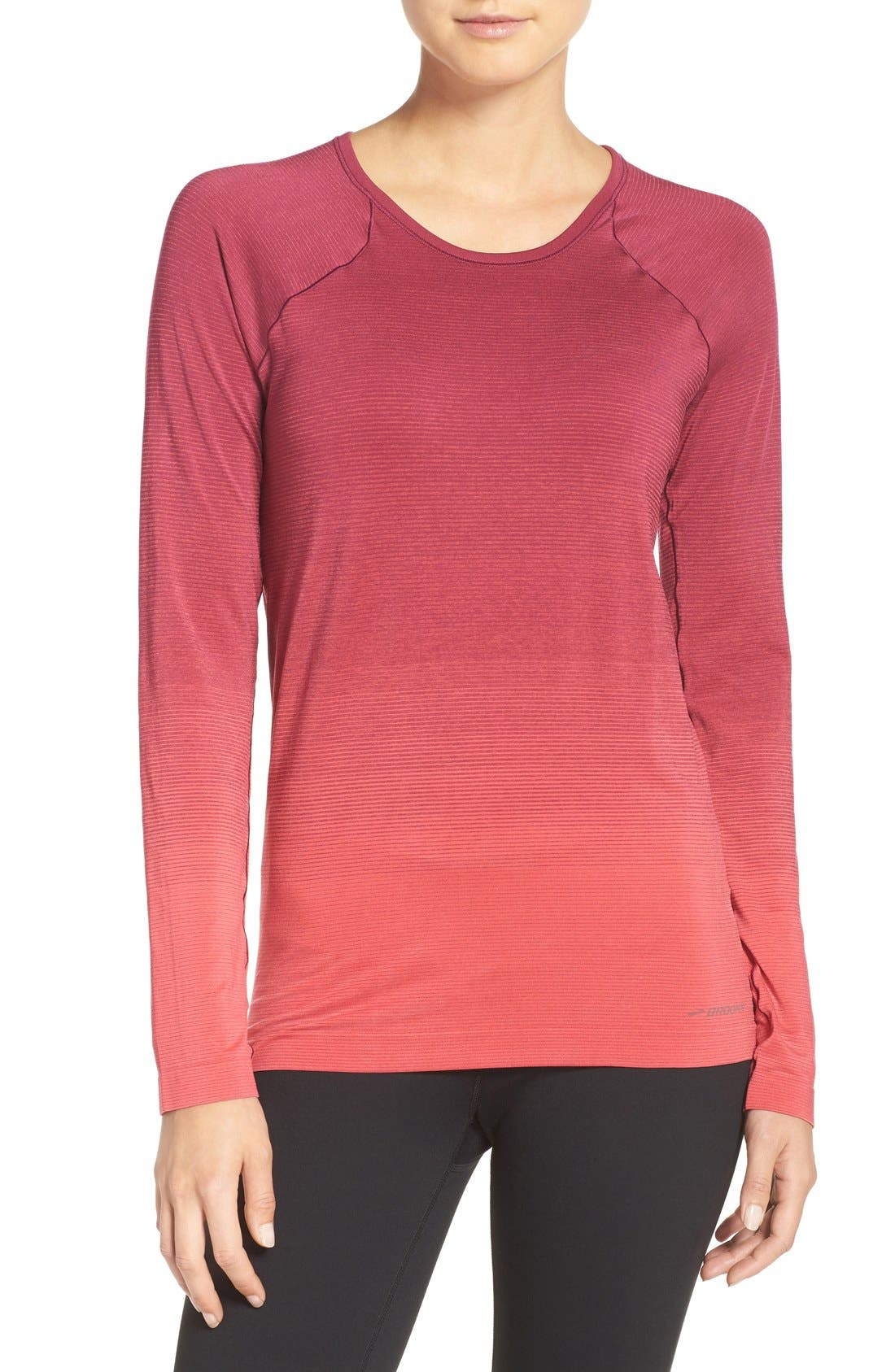 DriLayer Top,                         Main,                         color, Poppy/ Sangria
