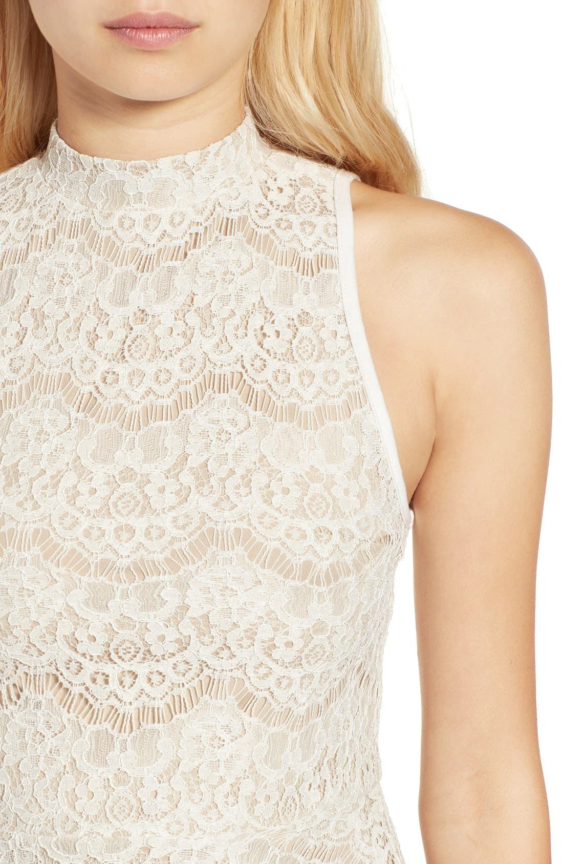 Alternate Image 4  - Fire Lace Peplum Tank