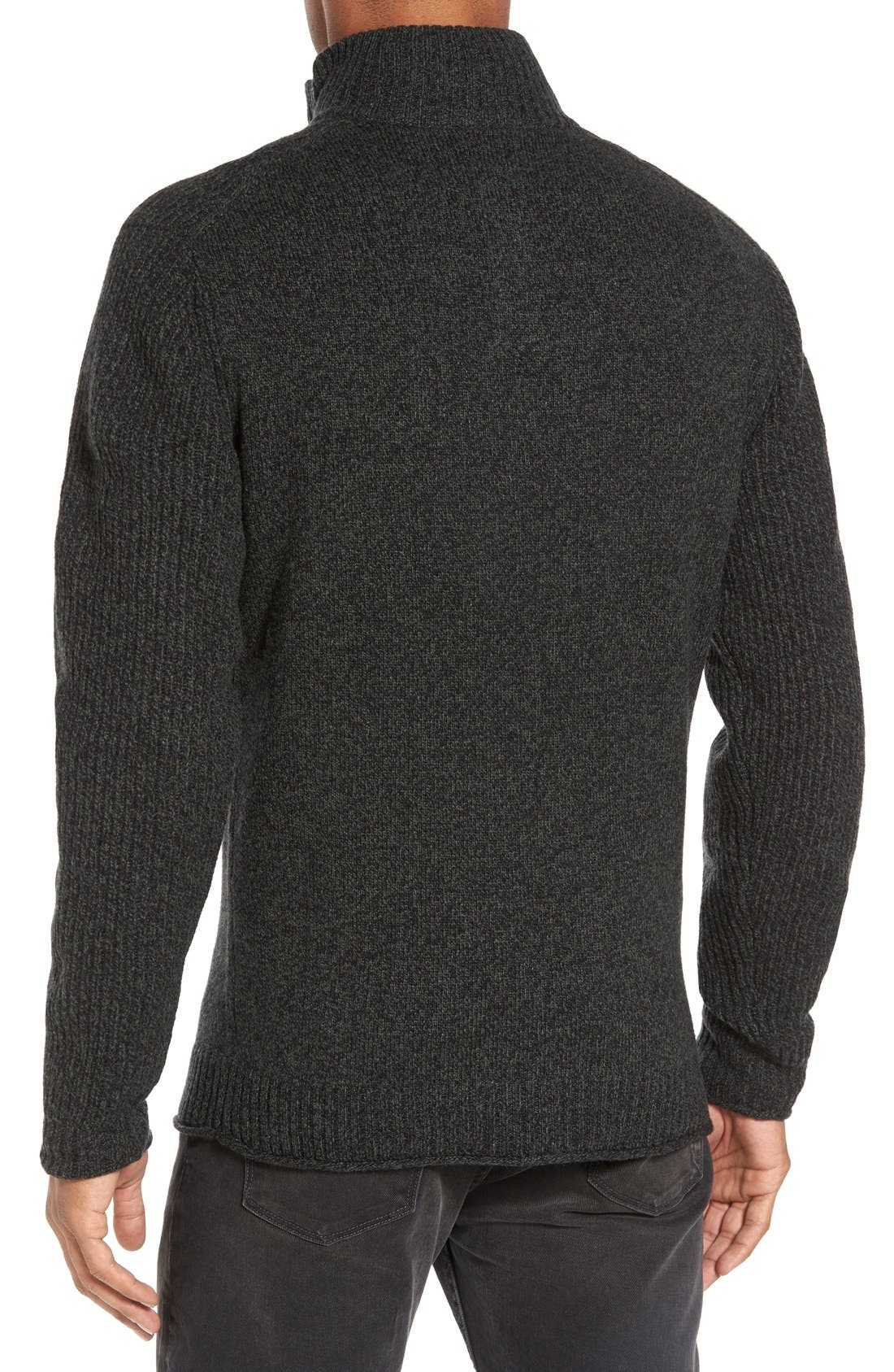 Birkenhead Mock Neck Sweater,                             Alternate thumbnail 2, color,                             Forest