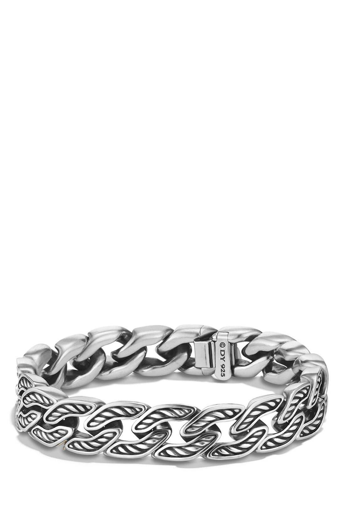 'Maritime' Curb Link Bracelet,                         Main,                         color, Silver