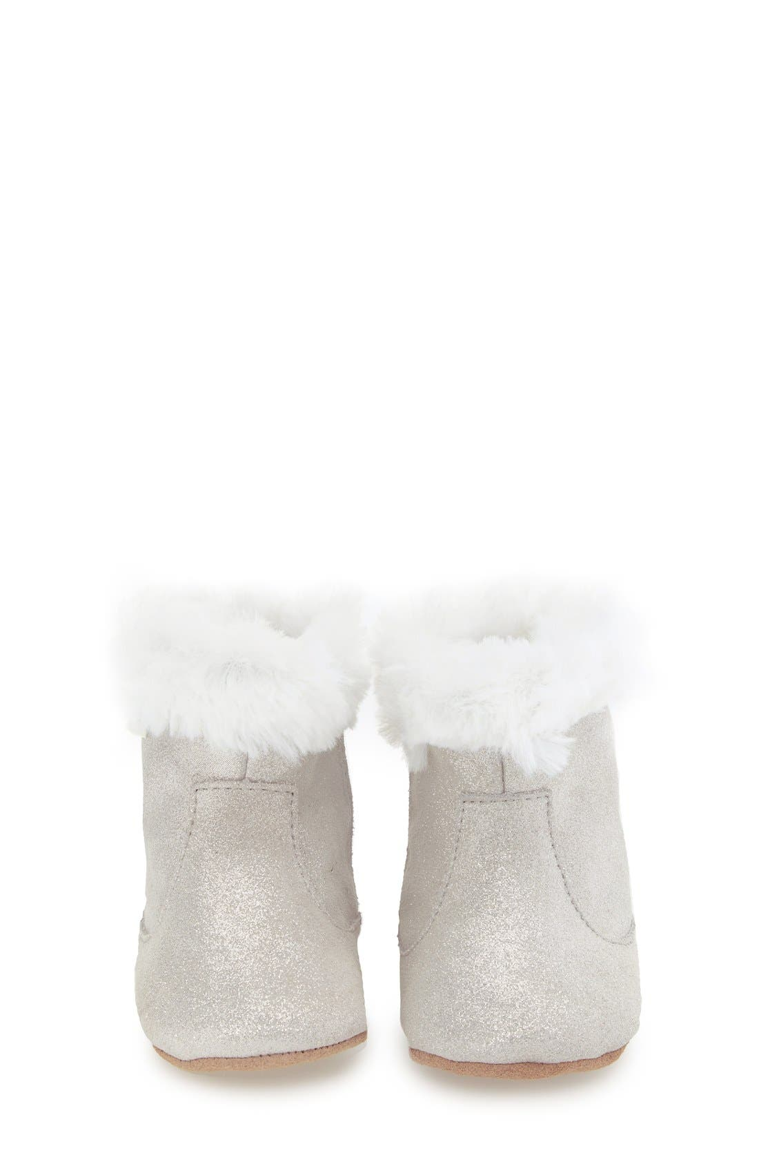 'Thea Twinkle' Bootie,                             Alternate thumbnail 3, color,                             Grey Sparkle Suede