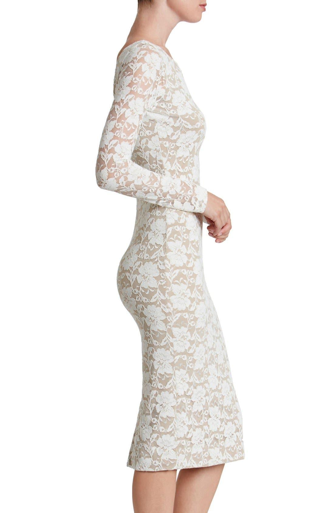 Alternate Image 3  - Dress the Population Emery Lace Body-Con Midi Dress