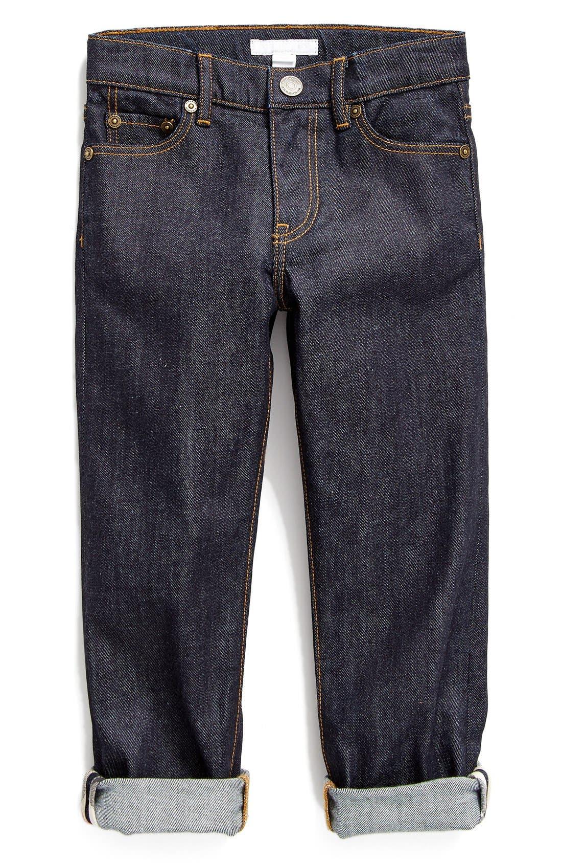 Main Image - Burberry Skinny Fit Jeans (Little Boys & Big Boys)