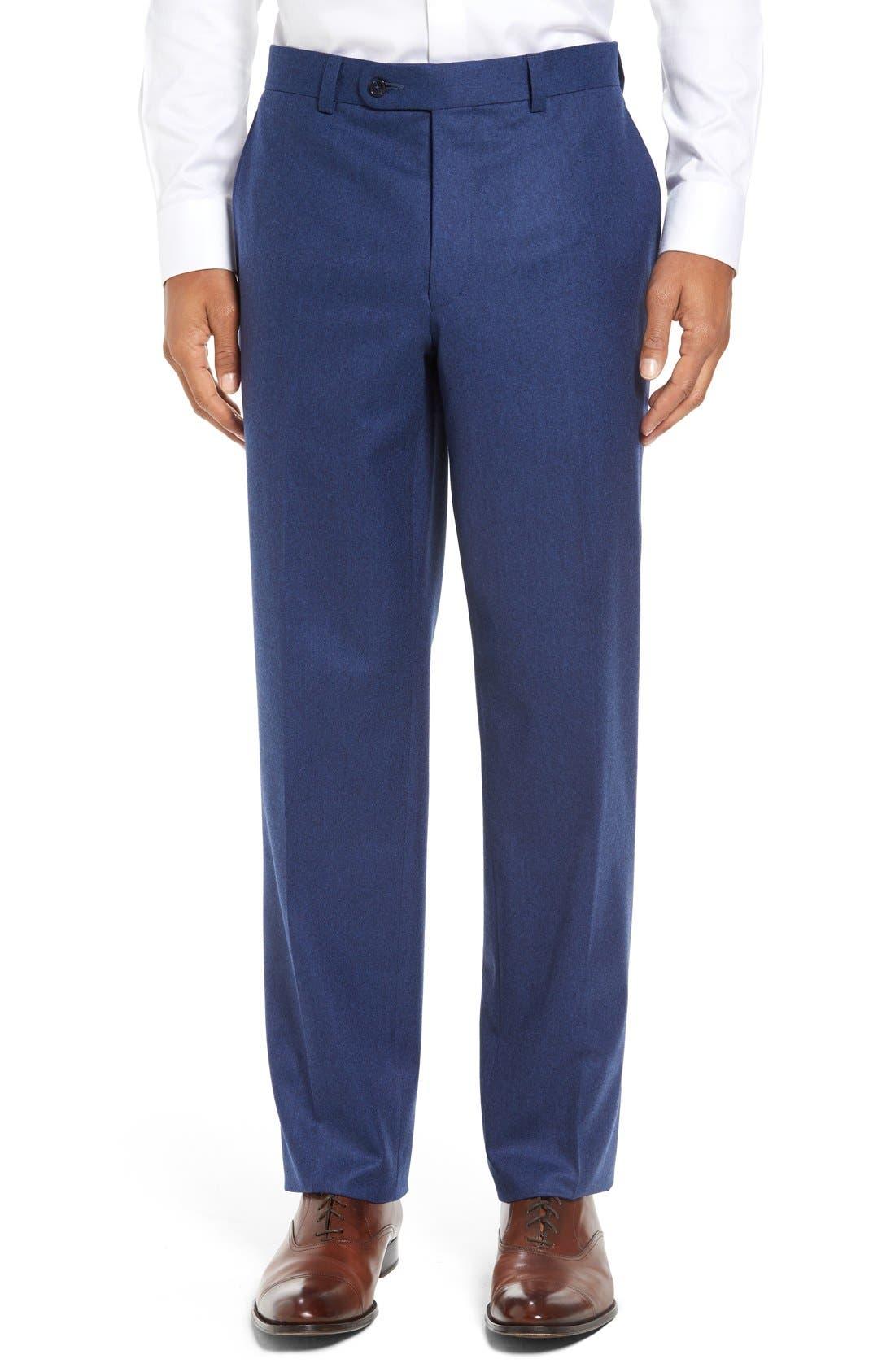 Alternate Image 1 Selected - David Donahue 'Ryan' Classic Fit Trousers