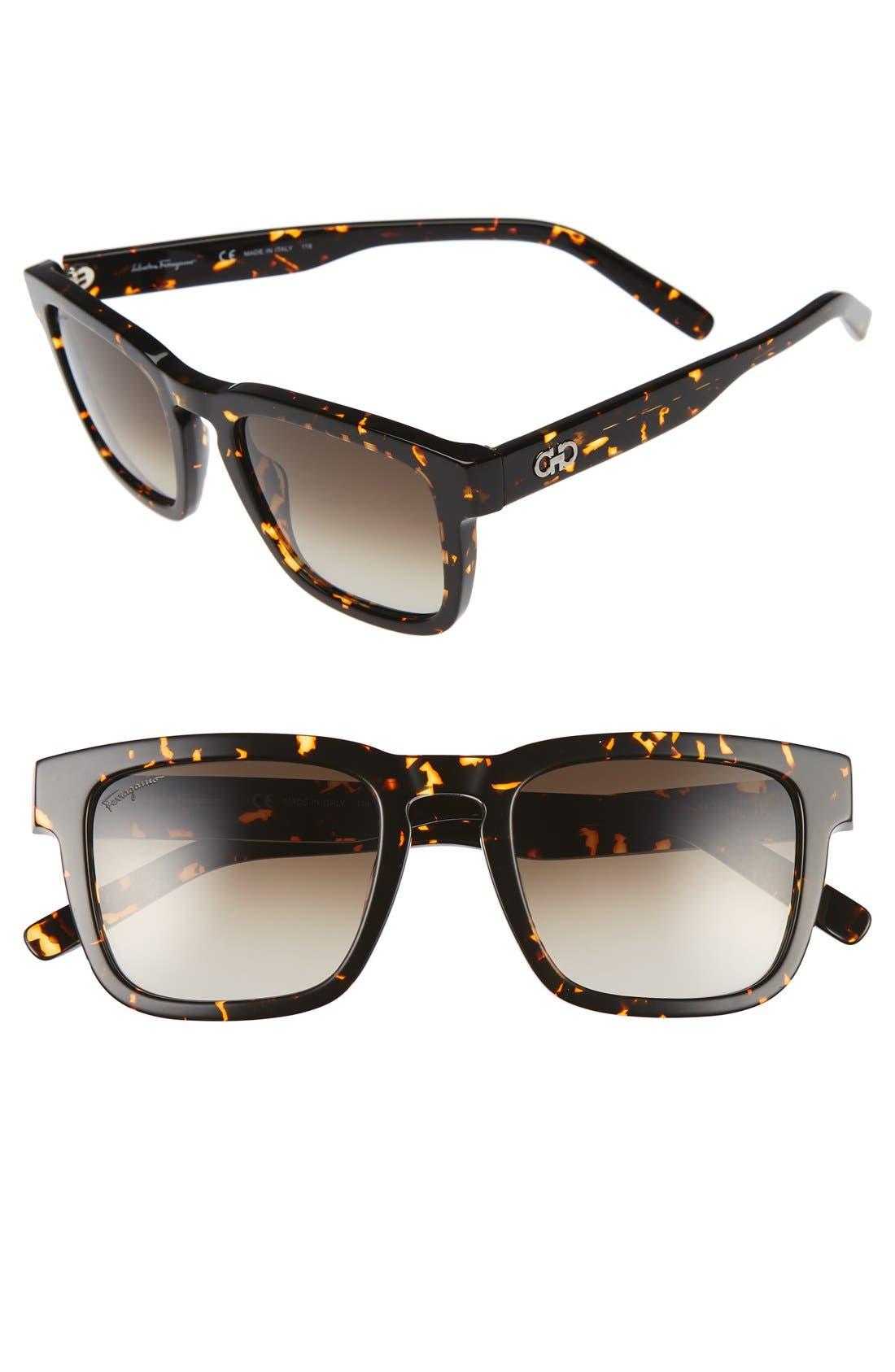 51mm Square Sunglasses,                         Main,                         color, Vintage Tortoise