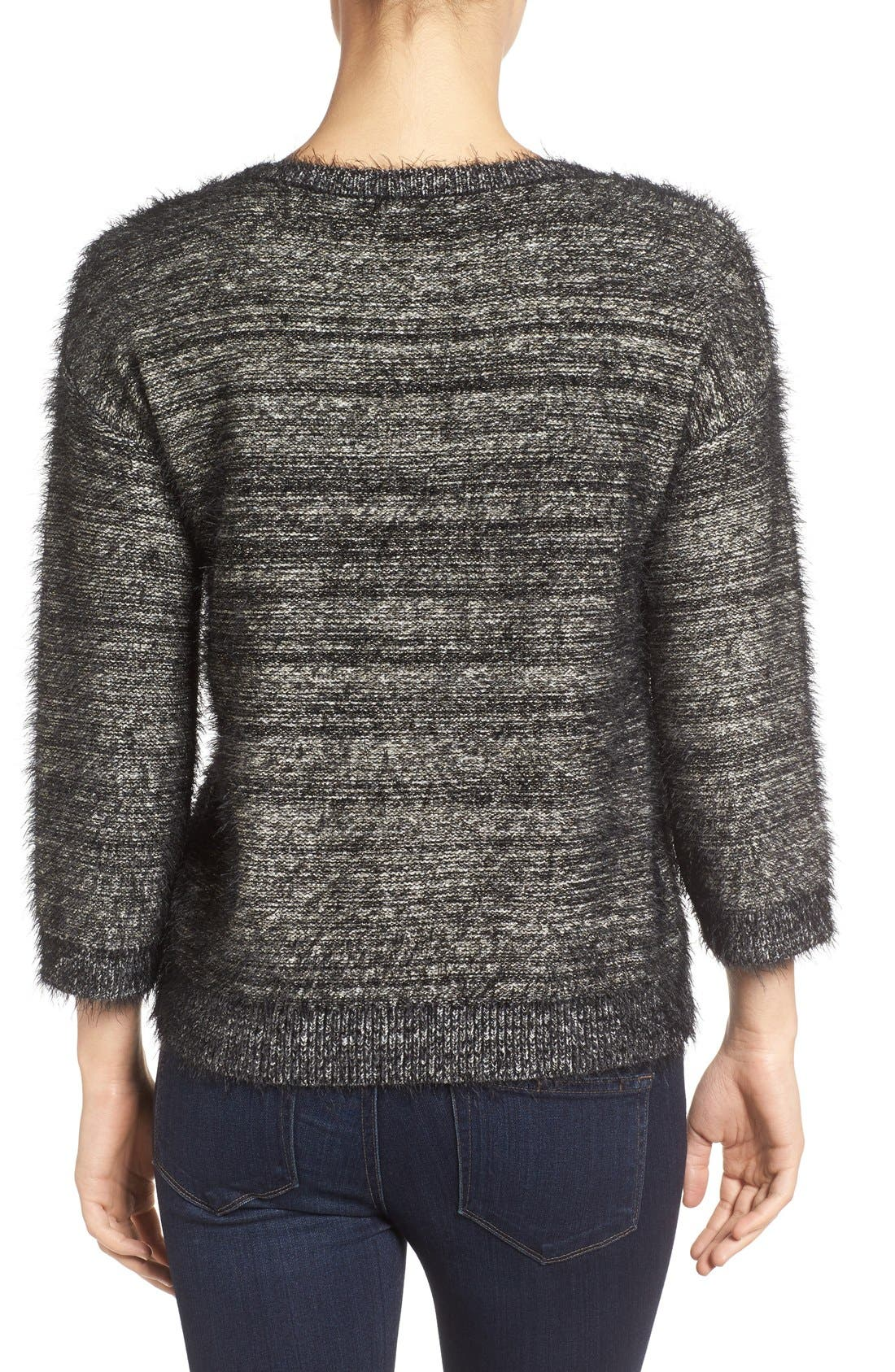 Alternate Image 2  - Halogen® Metallic Eyelash Knit Sweater