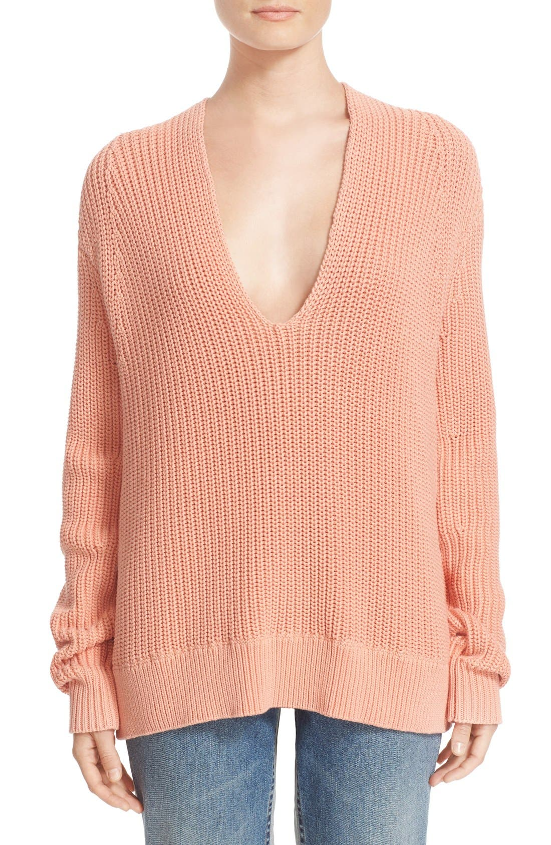Alternate Image 1 Selected - T by Alexander Wang Knit Cotton Sweater